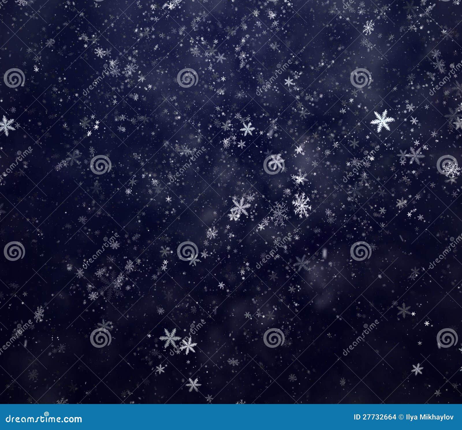 Winterschneehintergrund des neuen Jahres