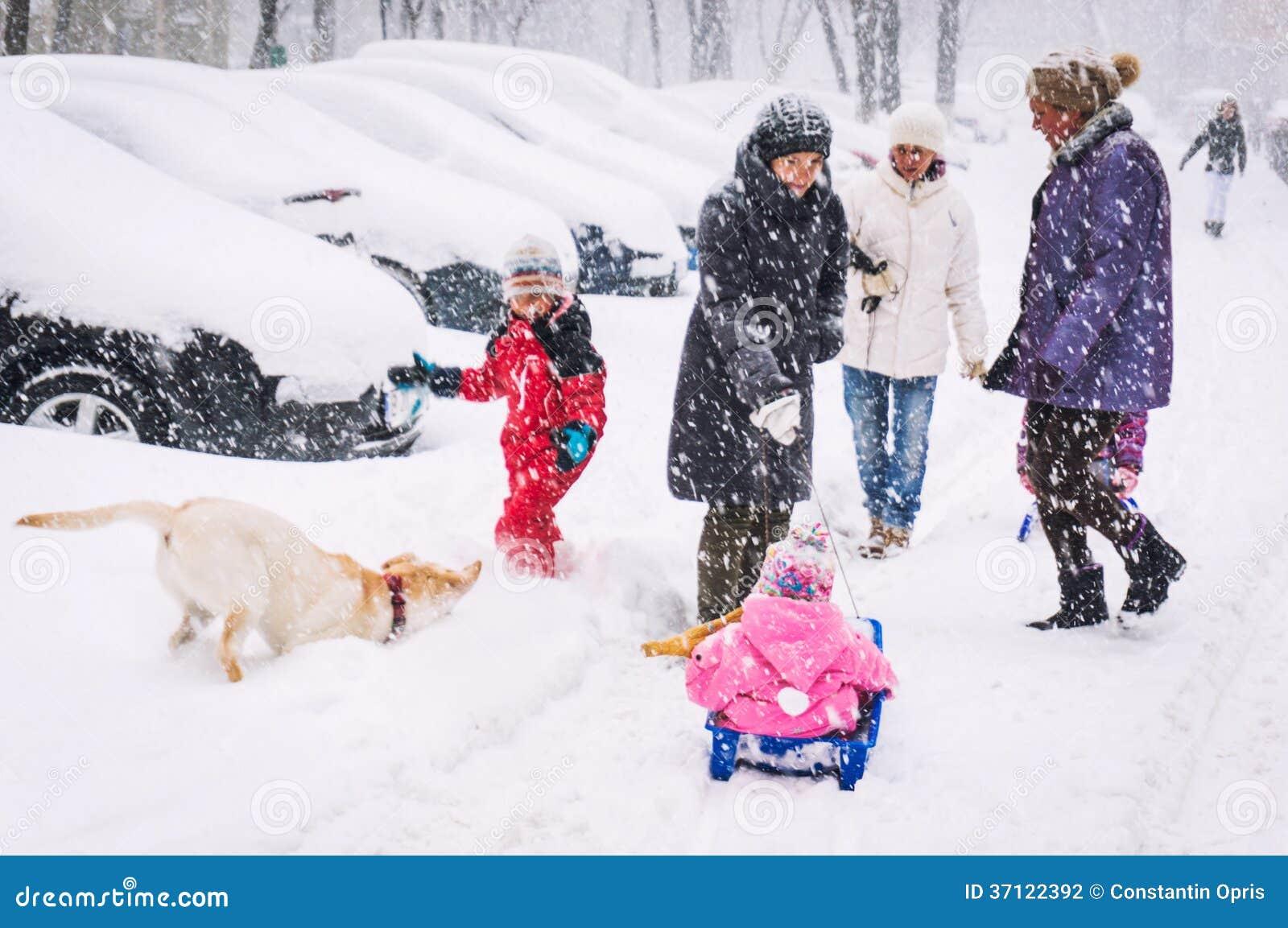 Winterstraßenbild