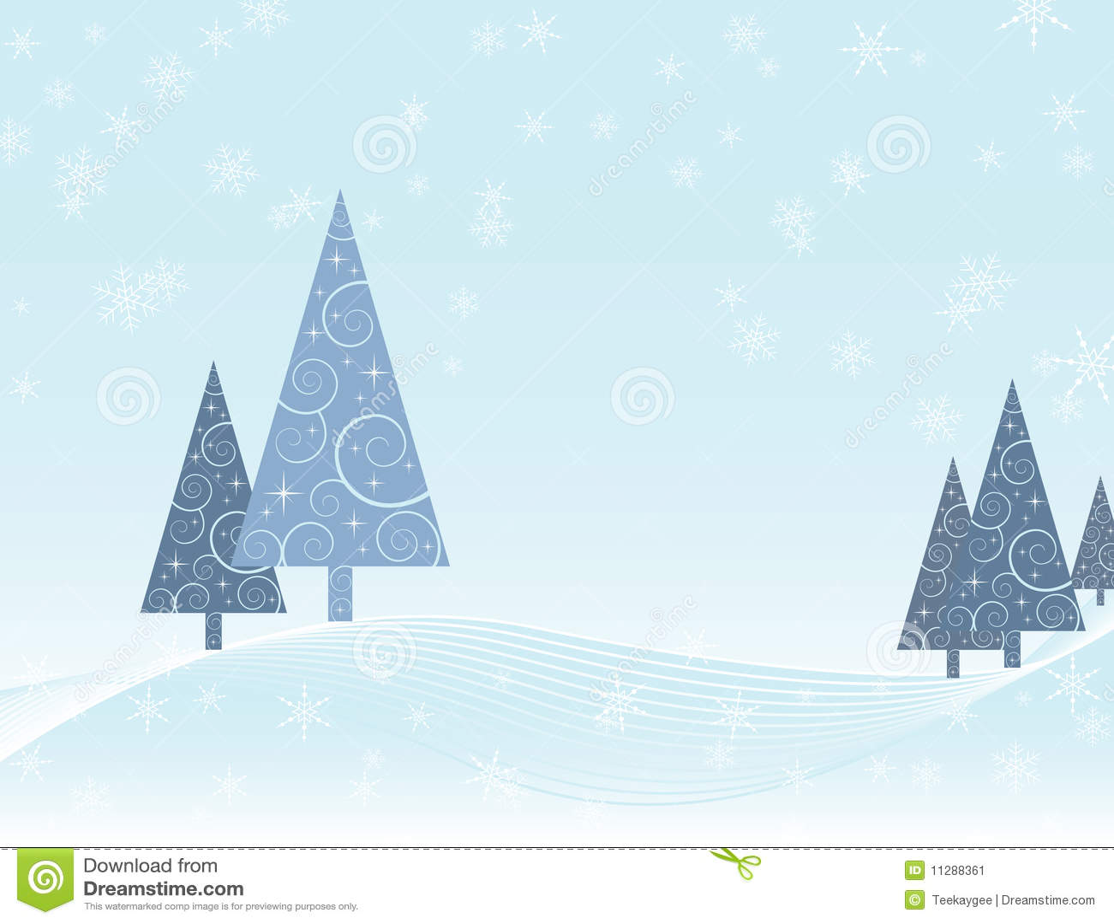 Winterszene Weihnachtskarte