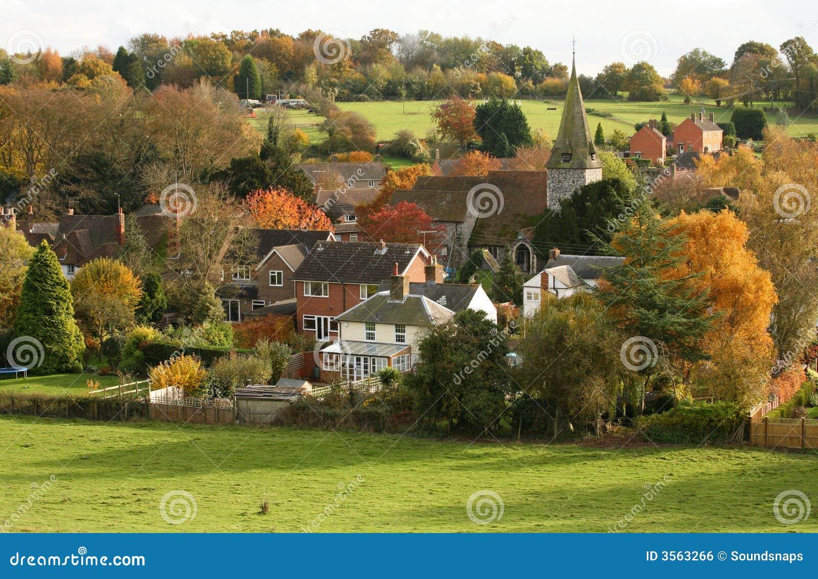 Wioska autumn anglików