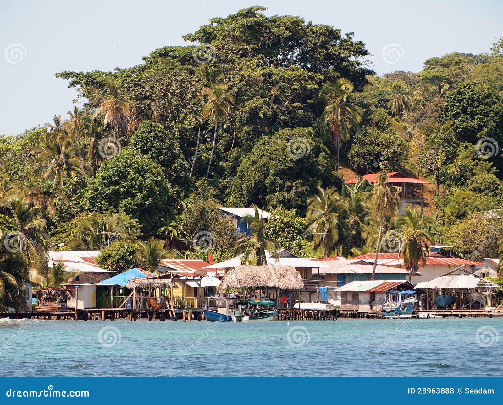 Wioska na wyspie karaibskiej
