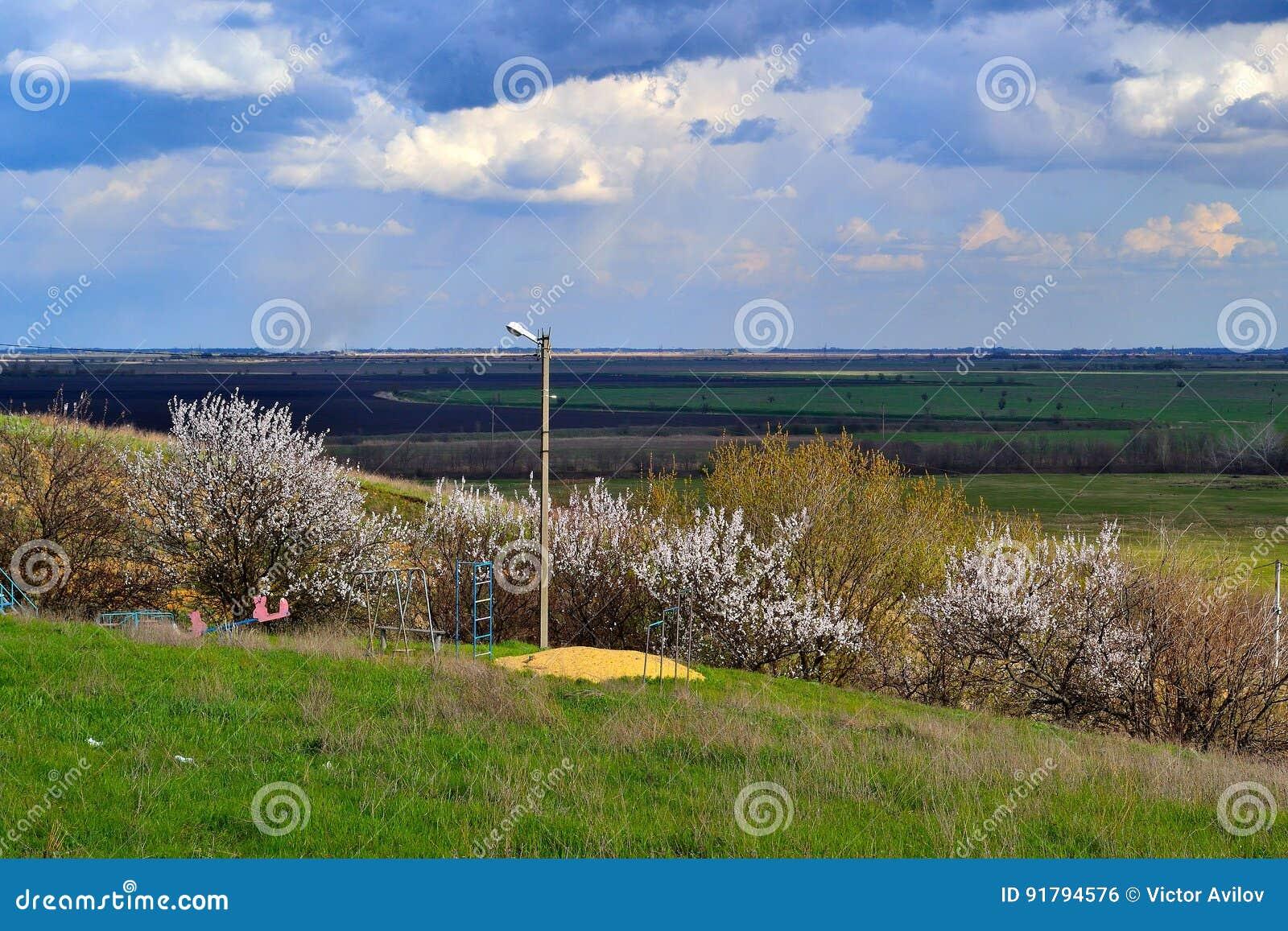 Wiosna fartuch