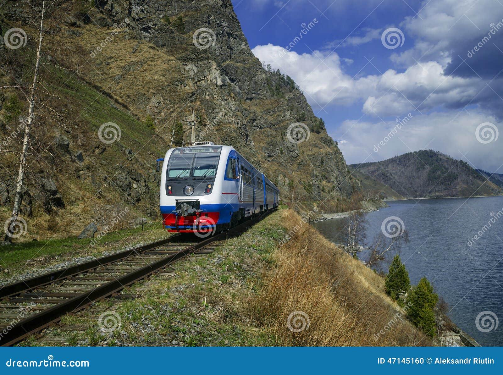 Wiosna na Baikal linii kolejowej