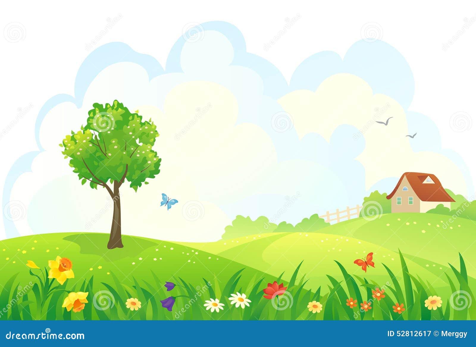 Wiosna wiejski dzień