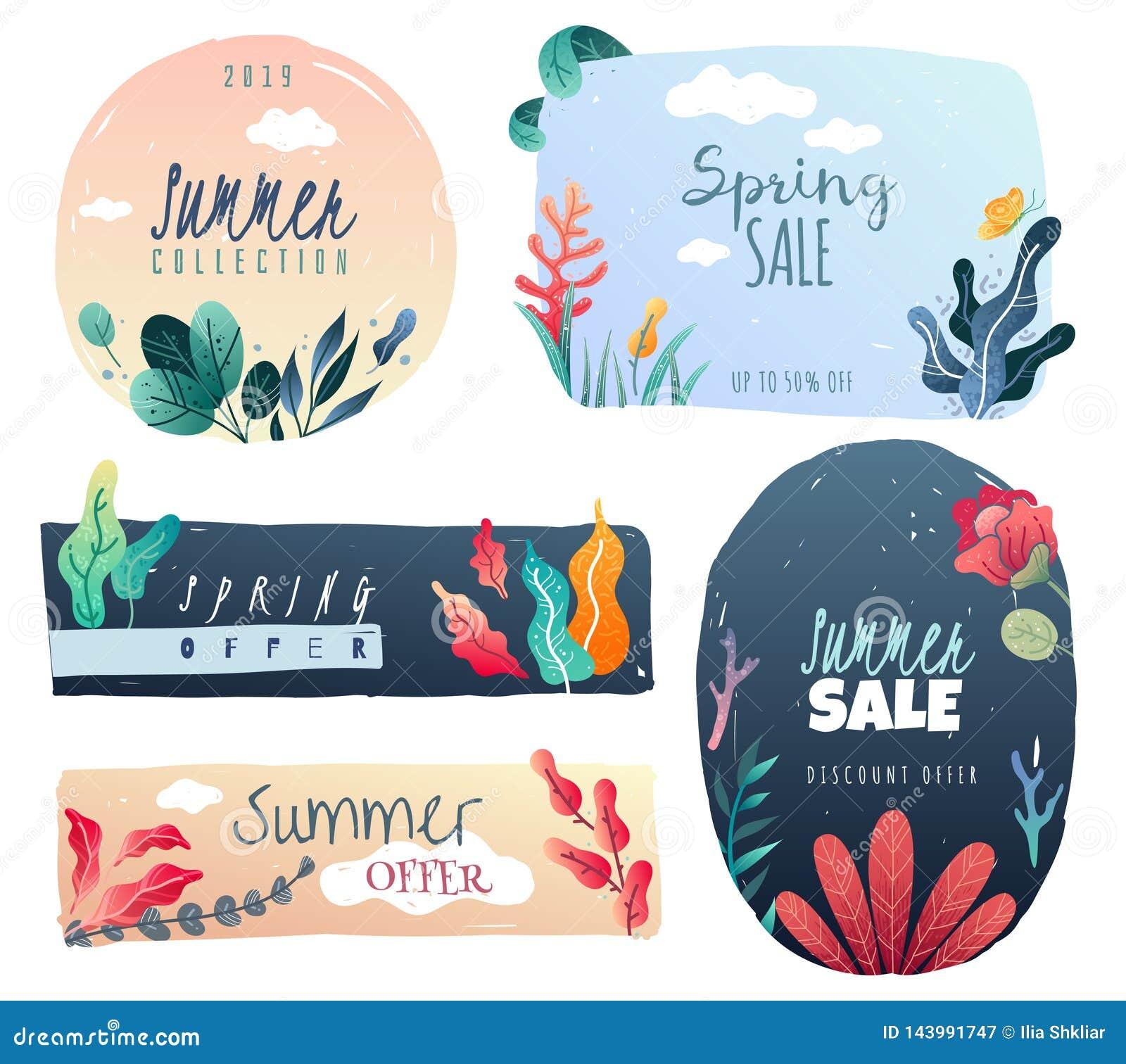 Wiosny lata dekoracyjni emblematy Patroszeni dekoracyjni elementy wykazywać tendencję styl