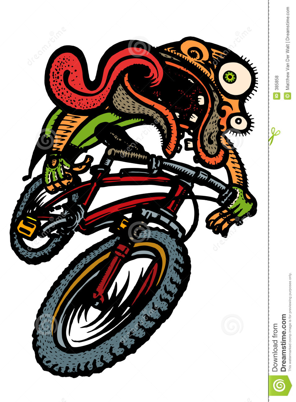 Wipe out guy stock illustration of cartoon