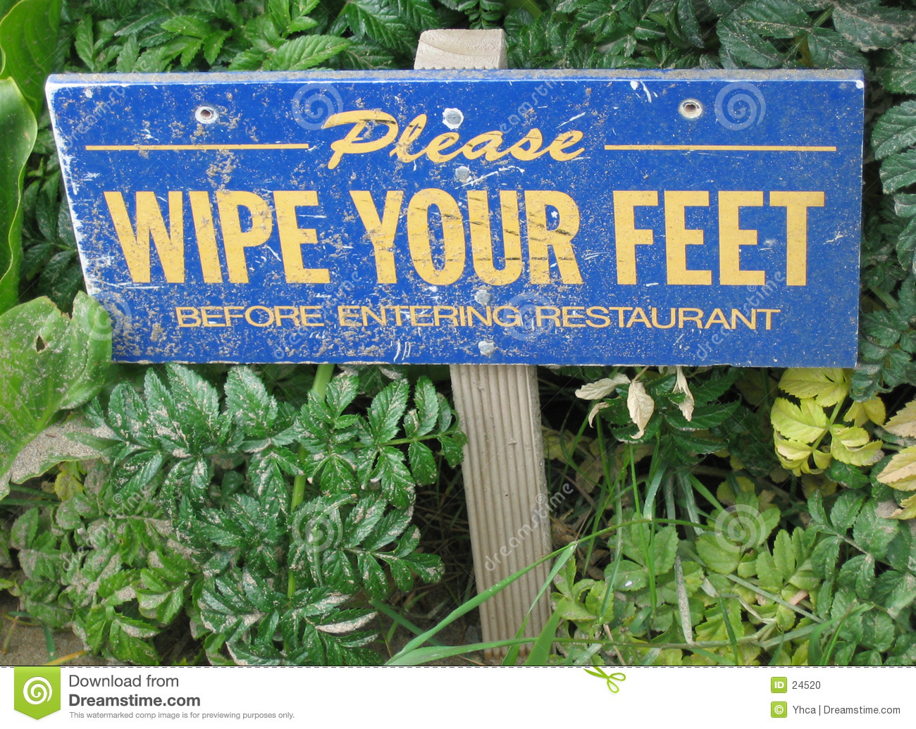 Wipe your feet sign