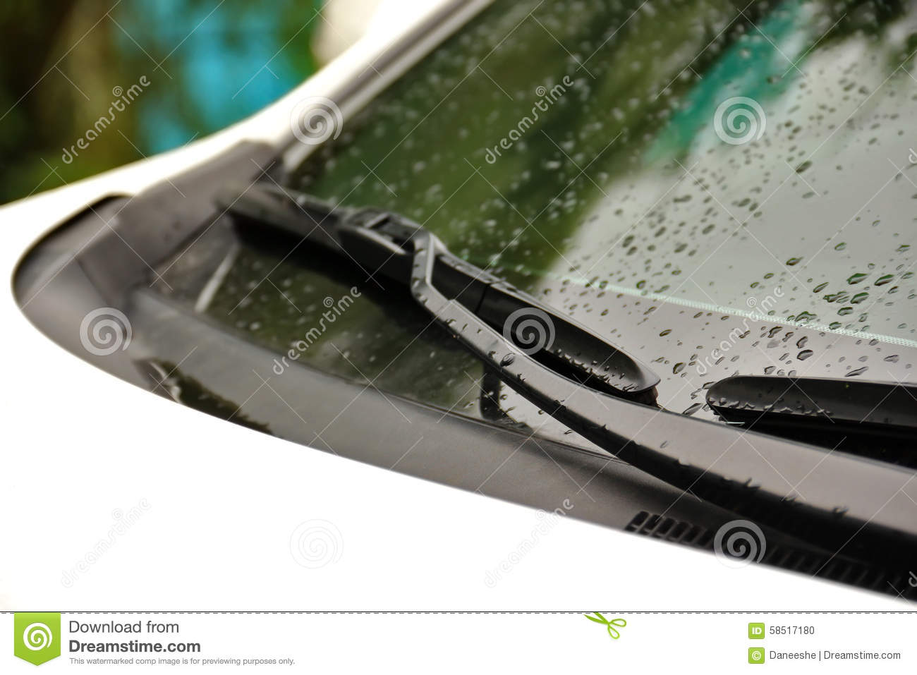 wipers on windshield of car close up on rainy day stock photo image 58517180. Black Bedroom Furniture Sets. Home Design Ideas