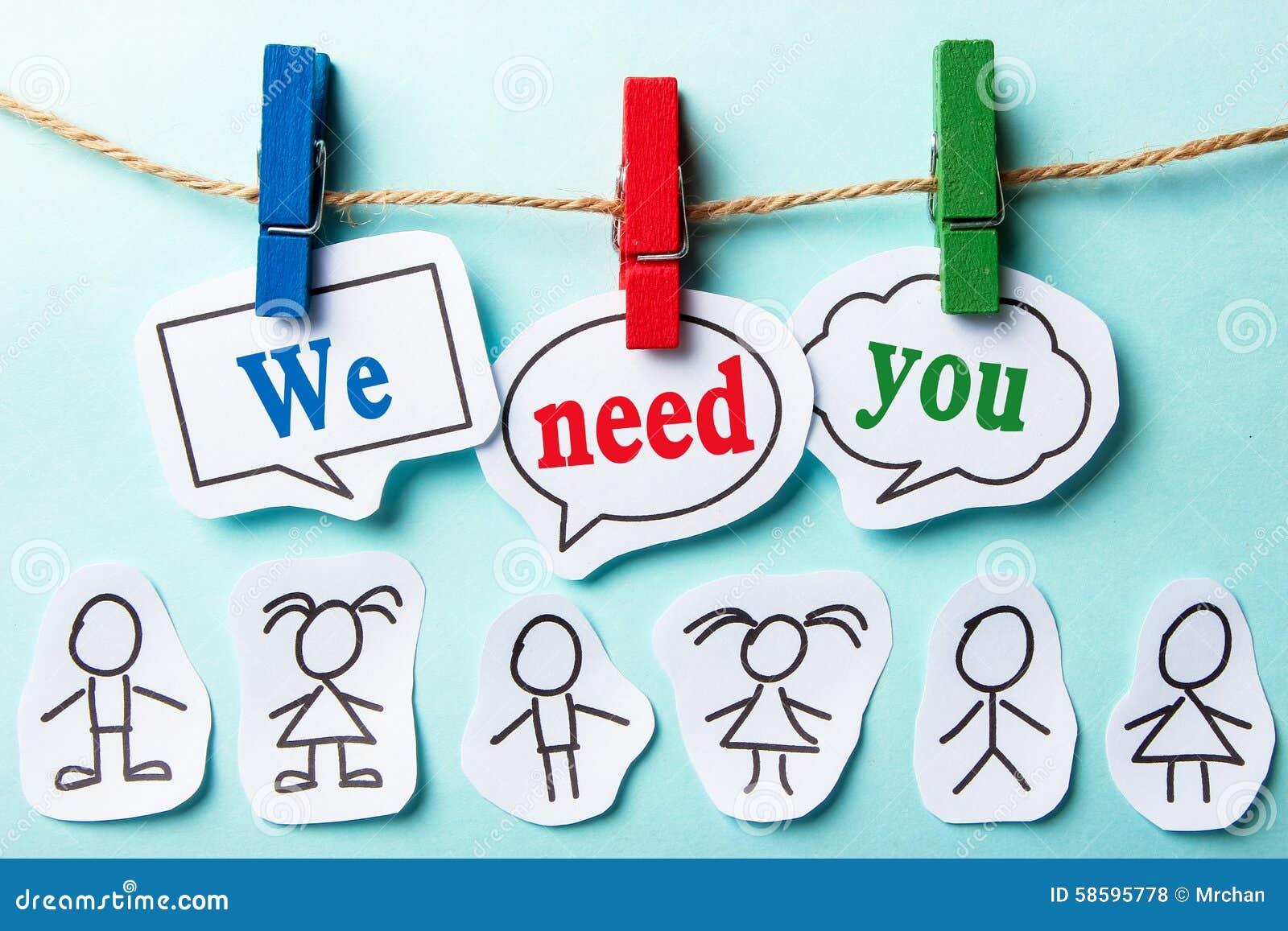 Wir benötigen Sie