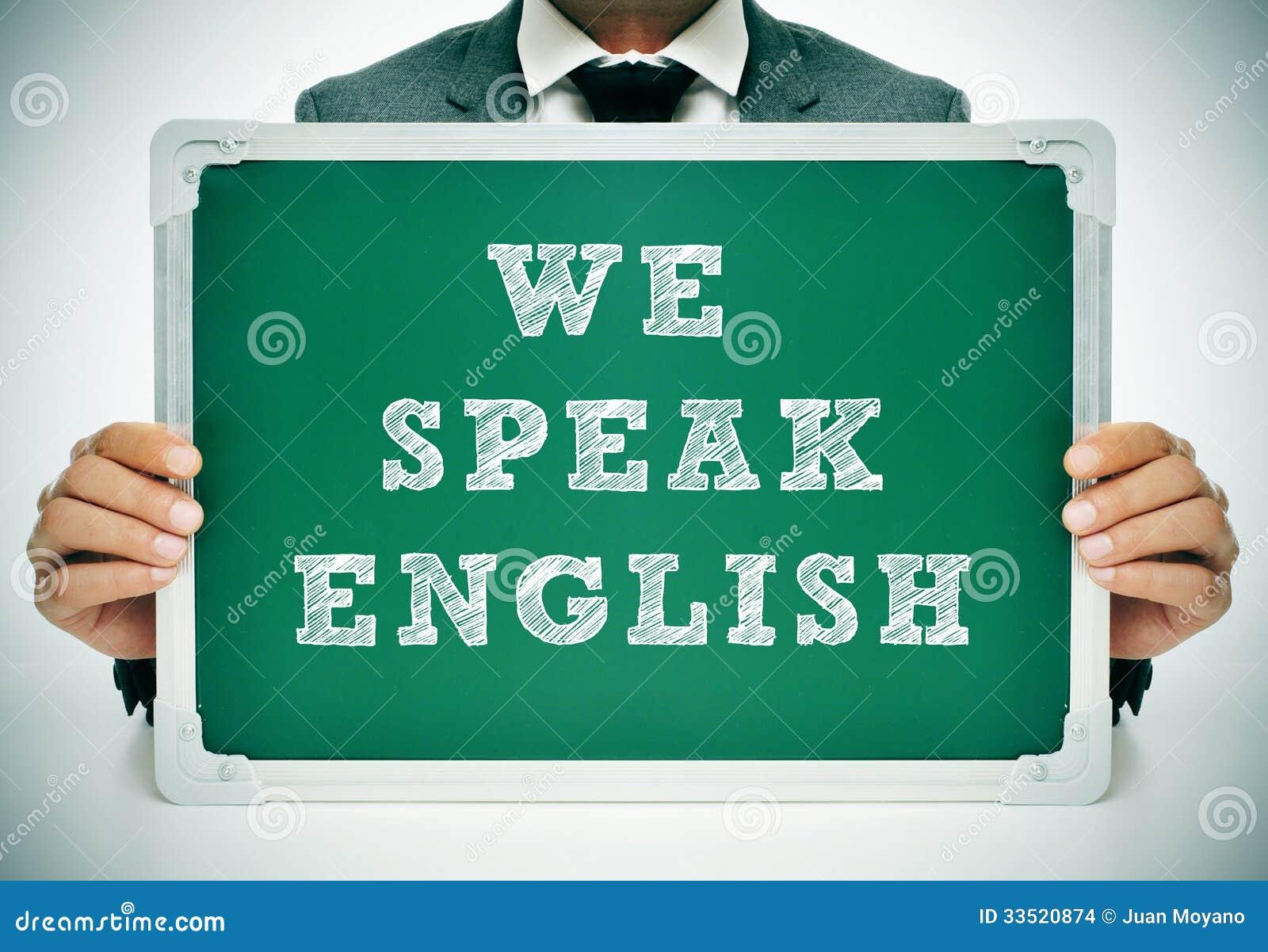 Wir sprechen Englisch
