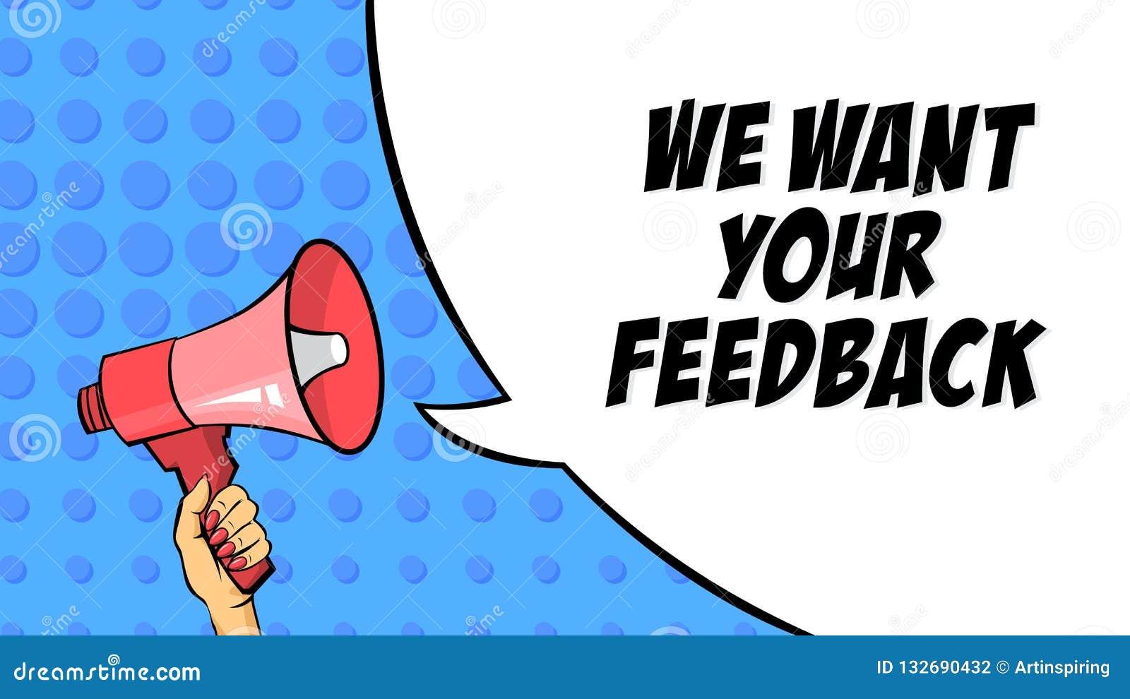 Wir wünschen Ihre Zufuhr ack-Mitteilung Bericht und Bewertung