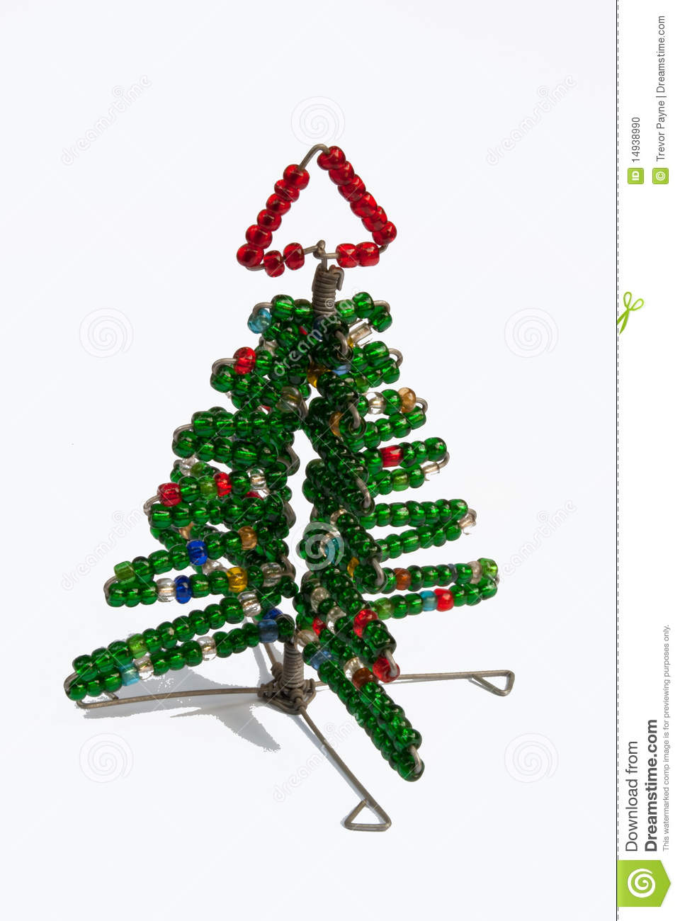 Wire And Bead Christmas Tree Stock Photo - Image of craft, arts ...