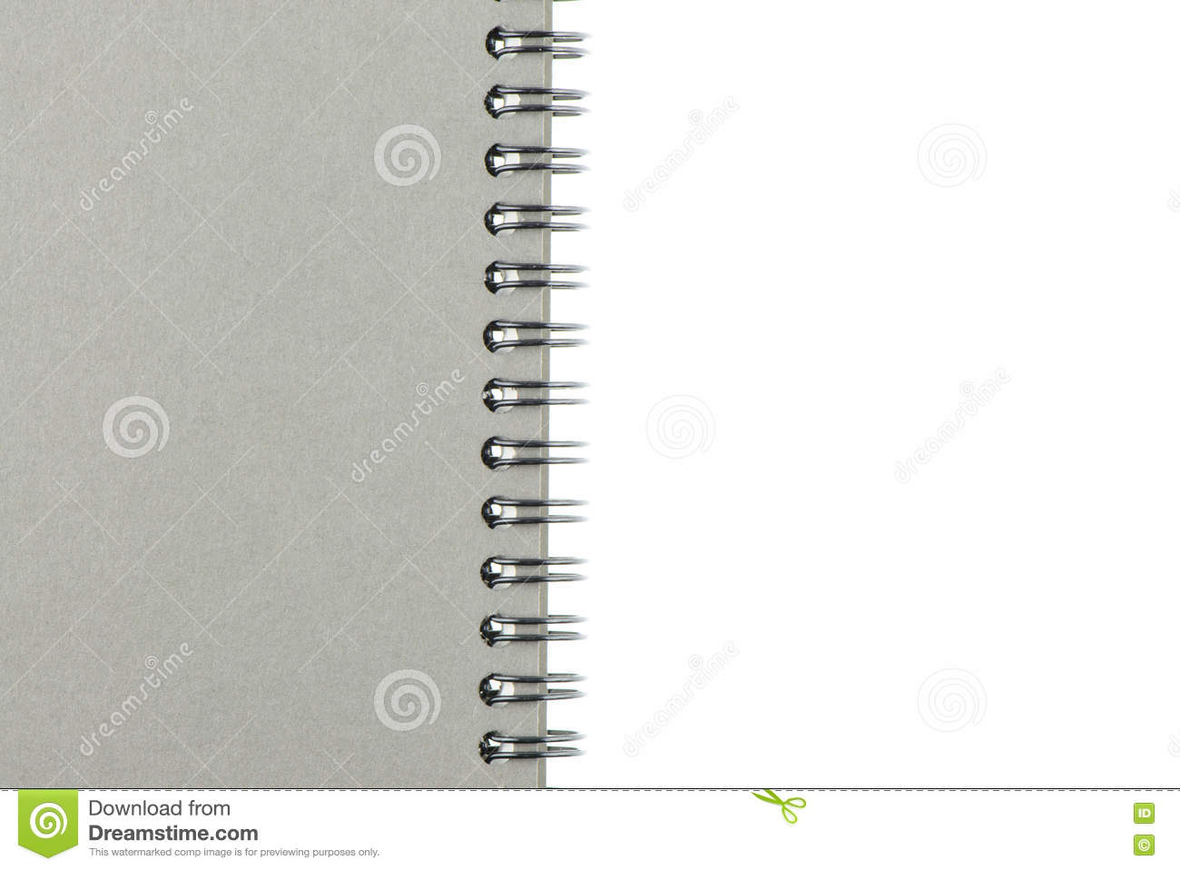 Wire Bound Or Spiral Bound Sketchbook Made From Board Isolated On ...