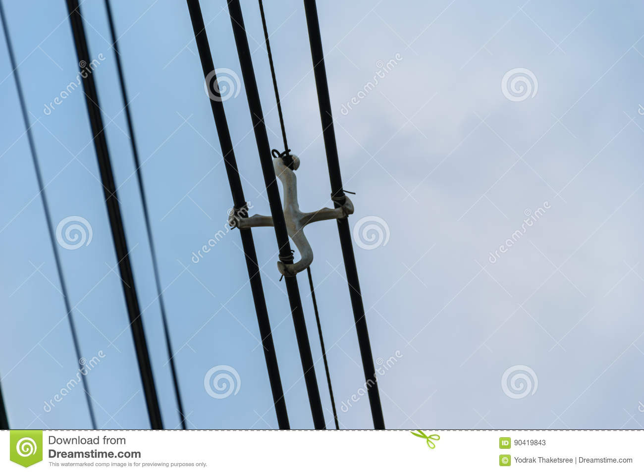 Wire cable stock image. Image of power, cable, distribution - 90419843