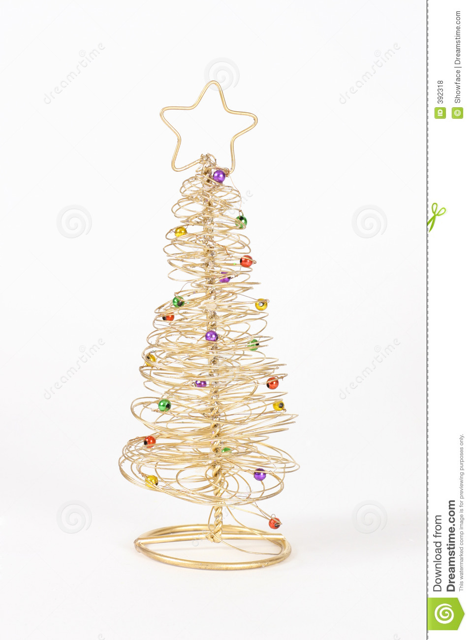 Wire christmas tree royalty free stock photos image
