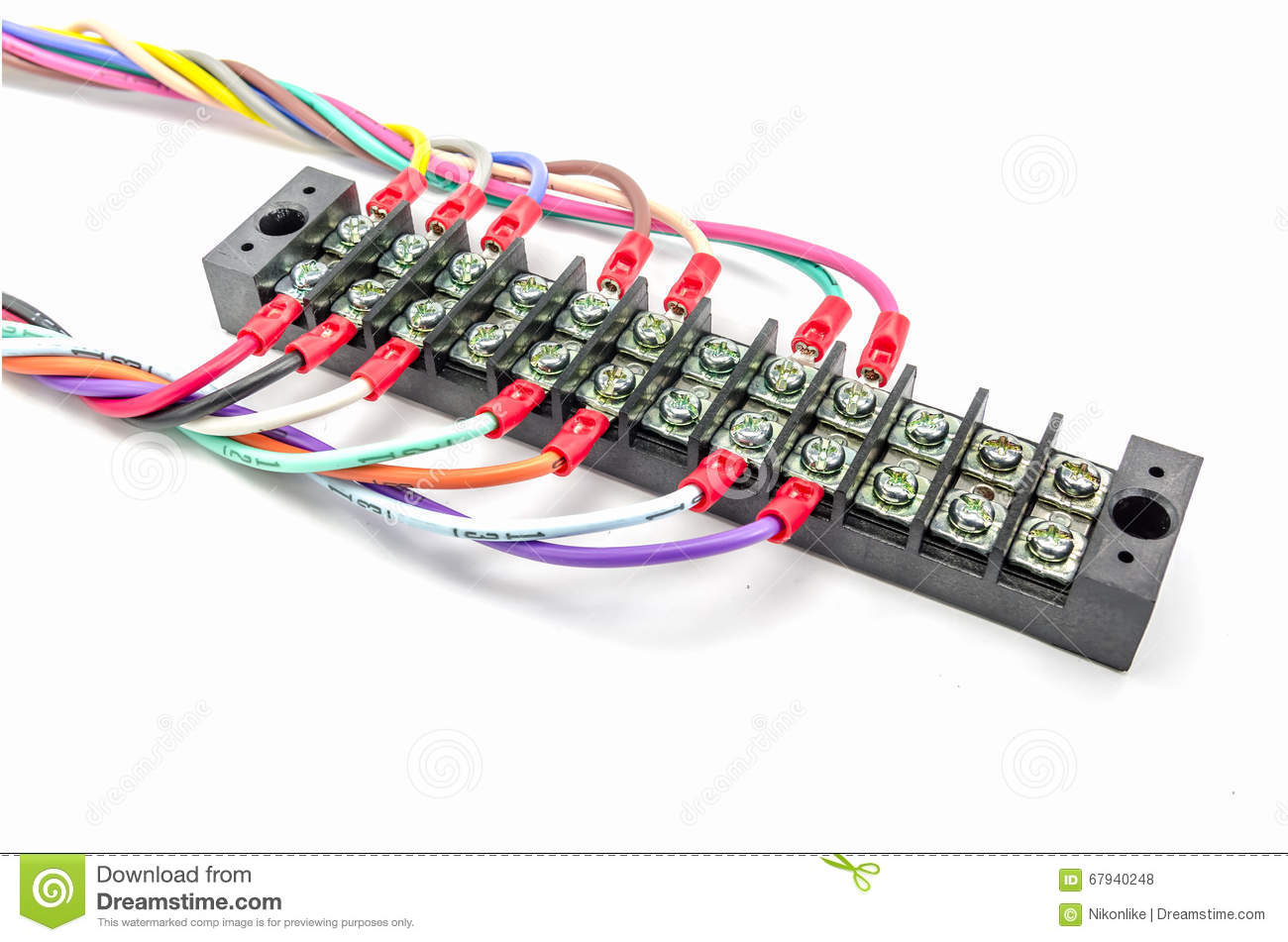 Wire connector terminal. stock photo. Image of technology - 67940248