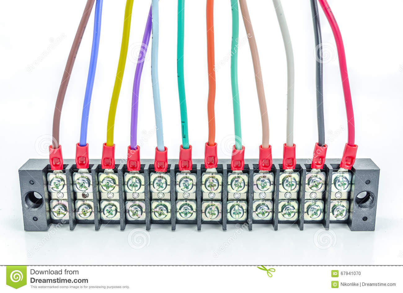 Wire connector terminal. stock photo. Image of cable - 67941070