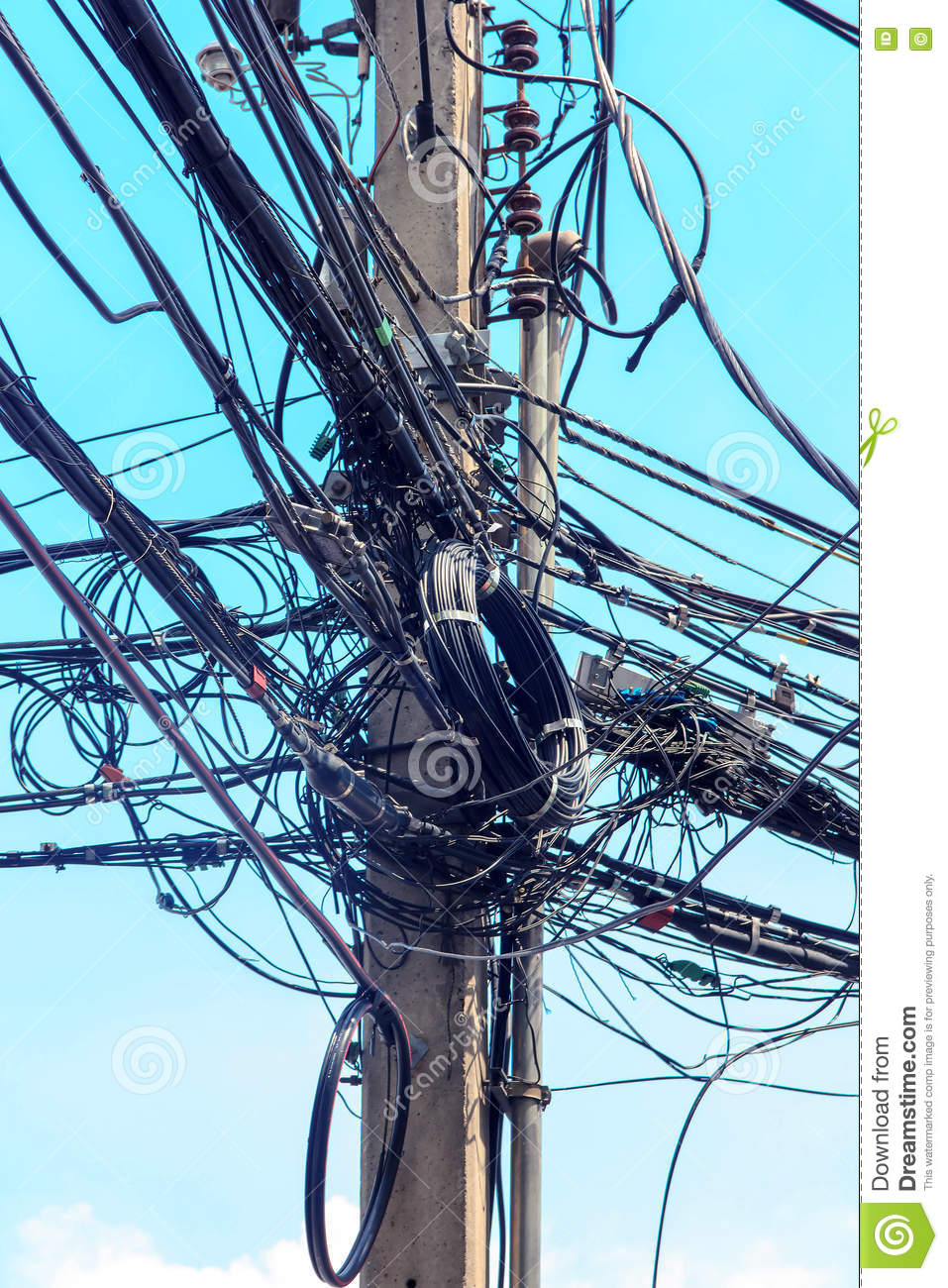 wiring cartoon pinterest wire electric messy stock photography | cartoondealer.com ...