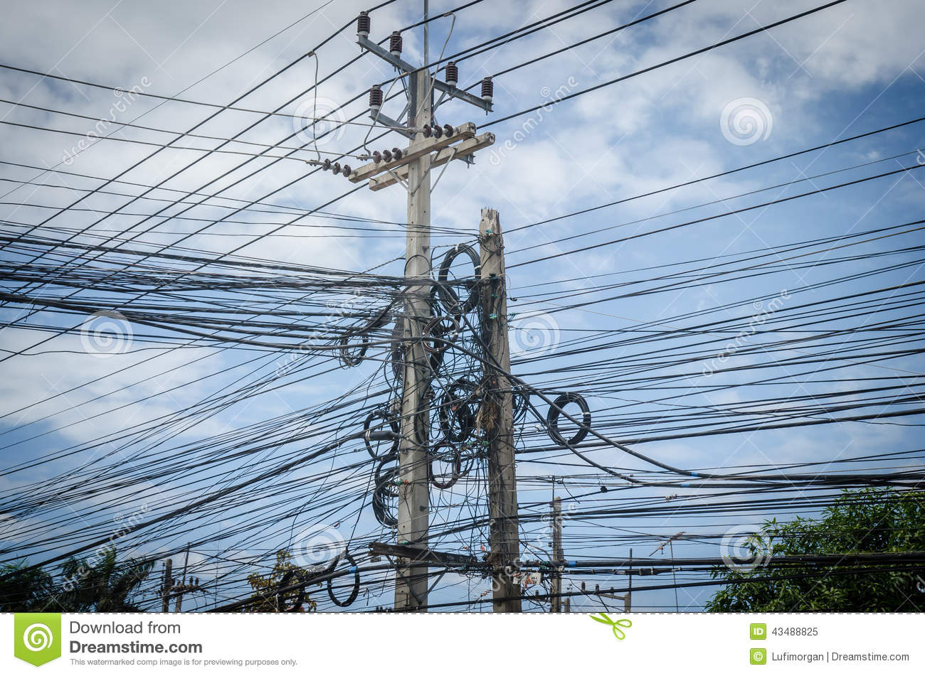 wire electric messy stock photography | cartoondealer.com ... #13