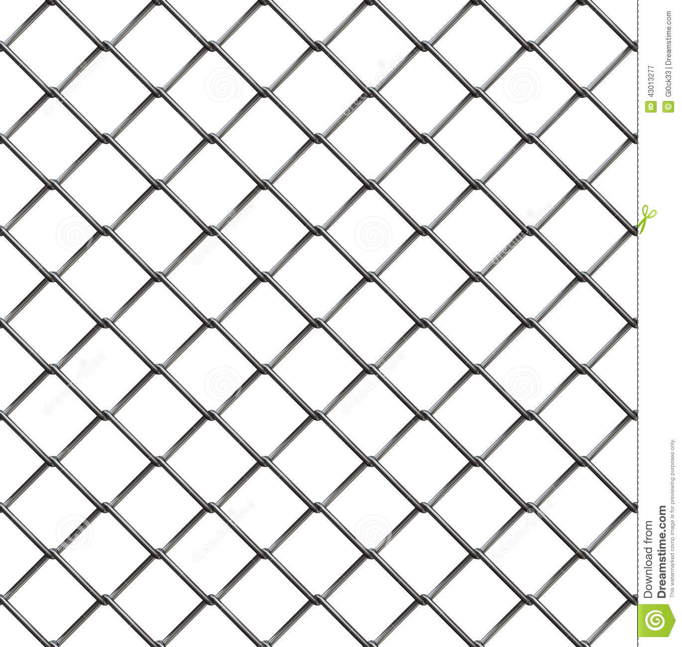 Wire Fence Seamless Pattern Stock Illustration