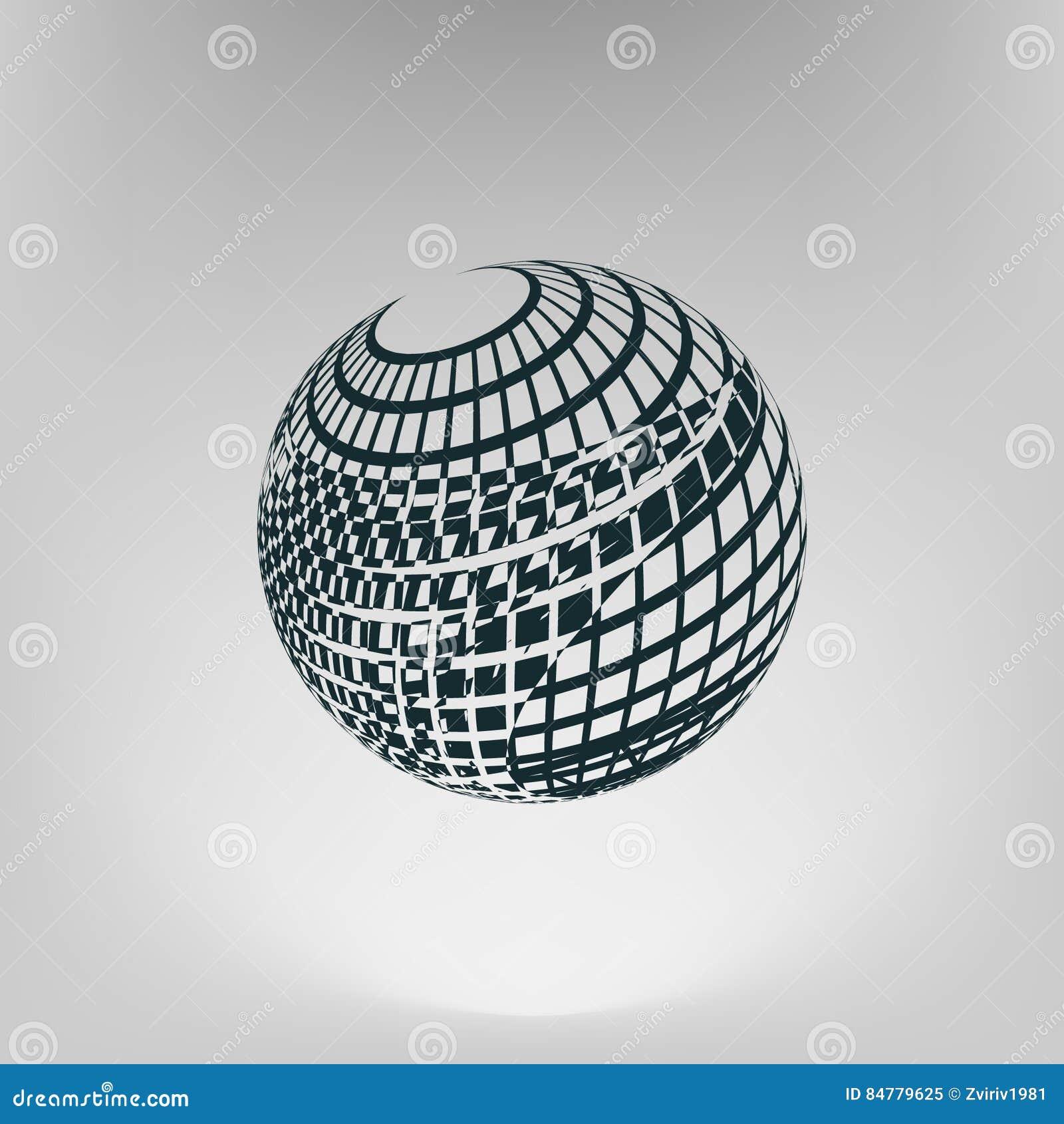 Wire-frame Design Element. Sphere Stock Illustration - Illustration ...