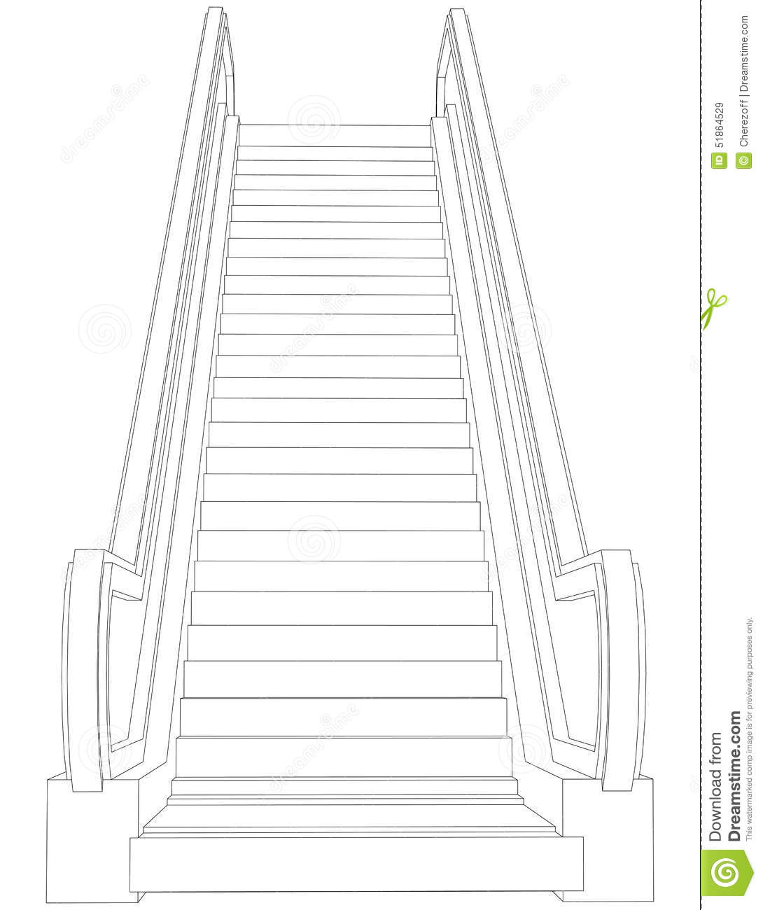 Wire frame escalator front view vector stock vector illustration download wire frame escalator front view vector stock vector illustration of simple ccuart Choice Image
