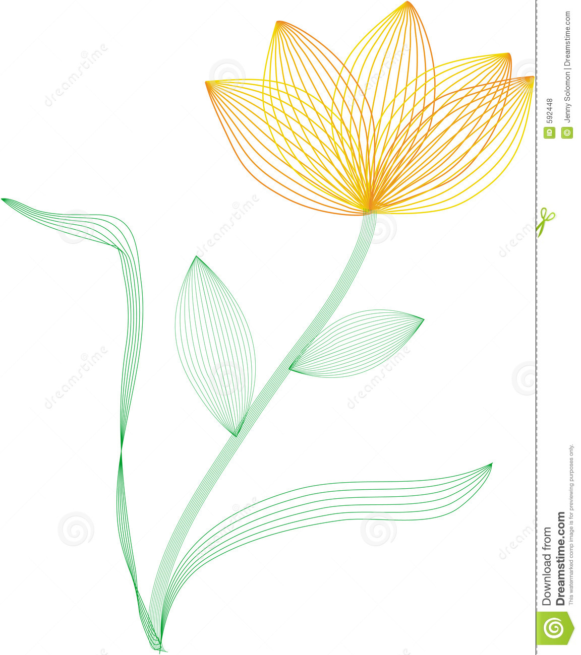 Wire frame flower stock vector. Illustration of abstract - 592448