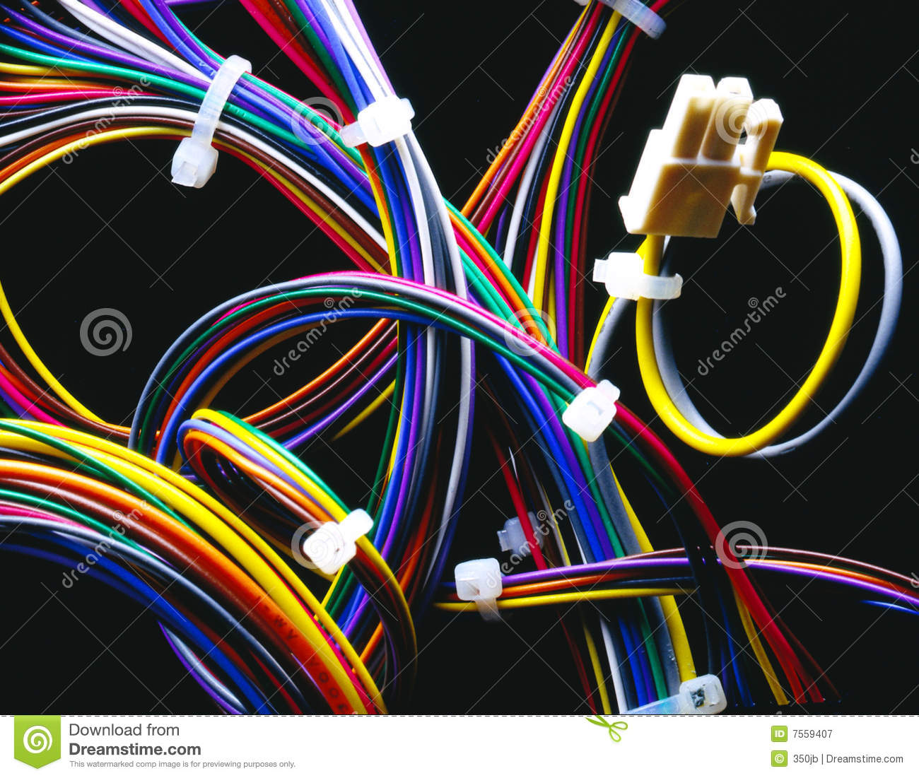 Wire Harness Royalty Free Stock Photography
