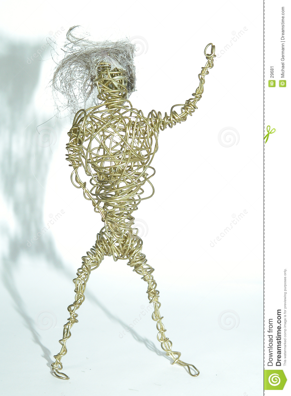 Wire Man with Hair