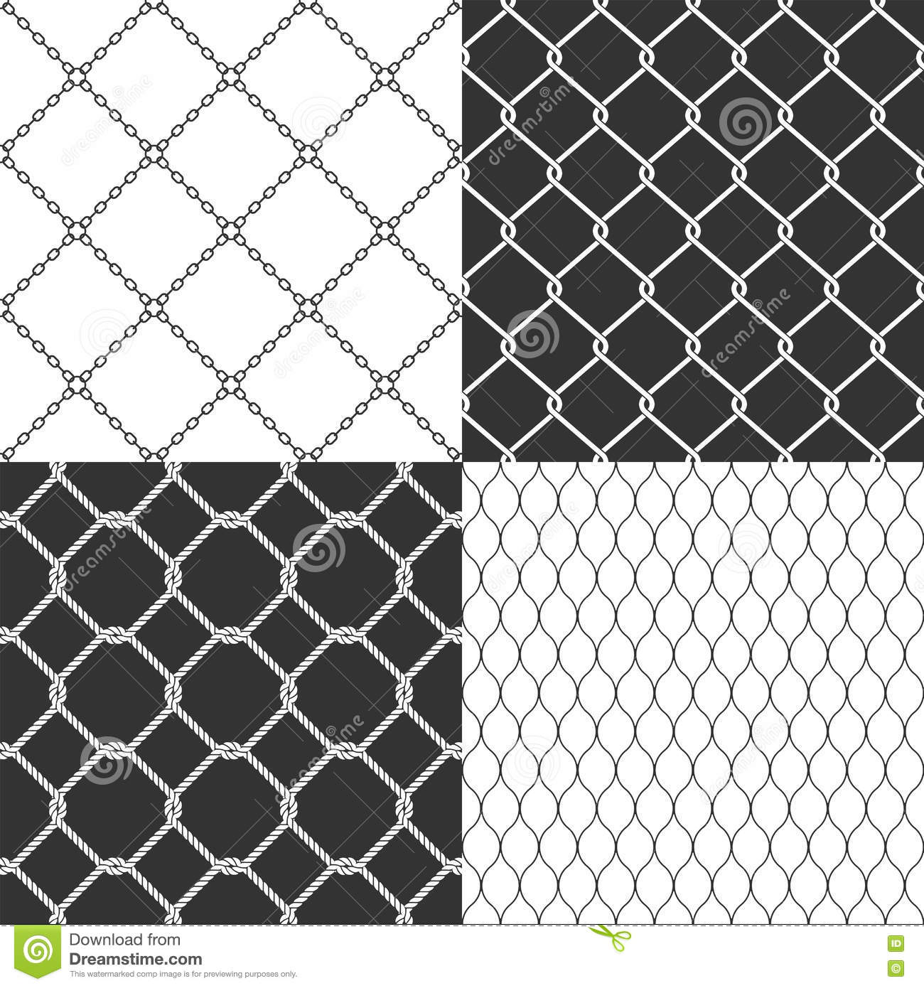 Wire Mesh. Seamless Vector Pattern. Stock Vector - Illustration of ...
