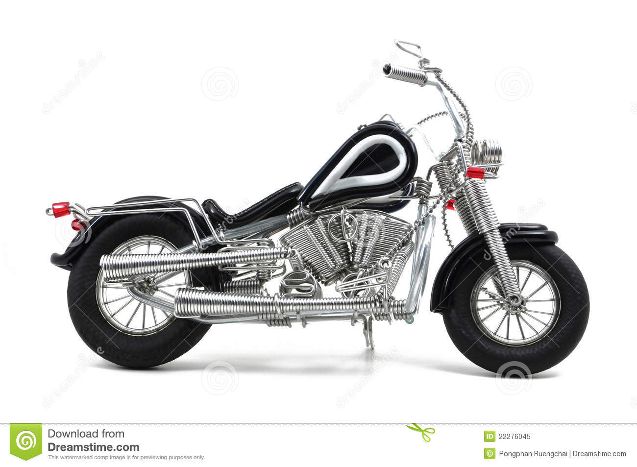 Wire motorcycle stock image. Image of homemade, motorcycle - 22276045