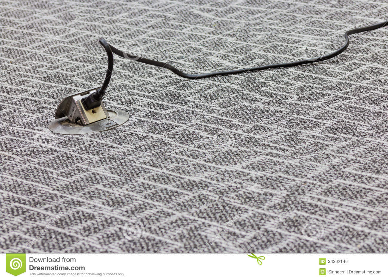 Wire And Plug On The Floor Royalty Free Stock Image Image 34362146