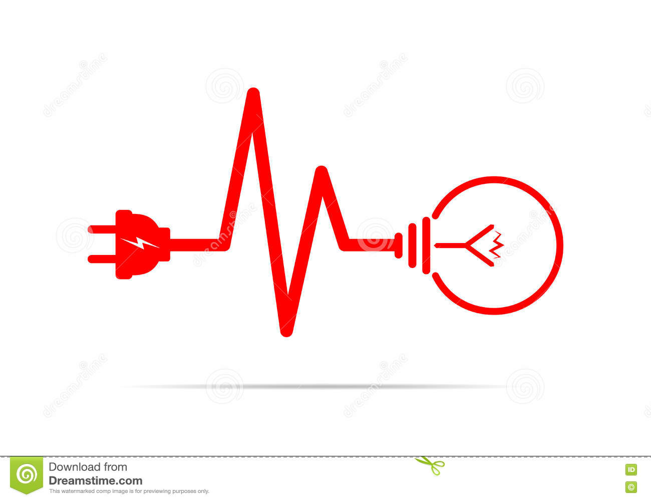 Wire Plug And Light Bulb Flat Icon Vector Illustration Stock Wiring A Free Download Diagrams Pictures Preview