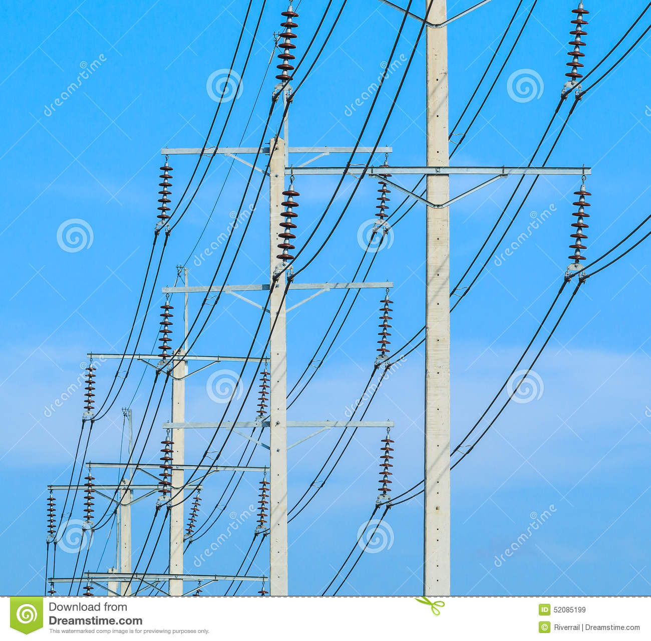 Wire Post Pole Wiring Diagram Building At High Voltage Electrical Stock Photo Image 52085199 Office Power Poles Barn