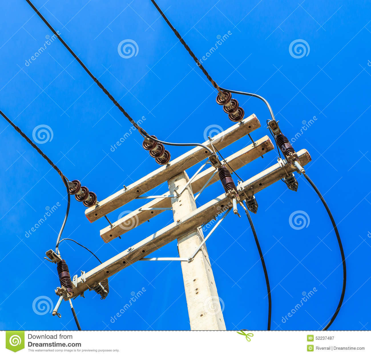 High Voltage Electrical Wire : Electrical post royalty free stock image cartoondealer