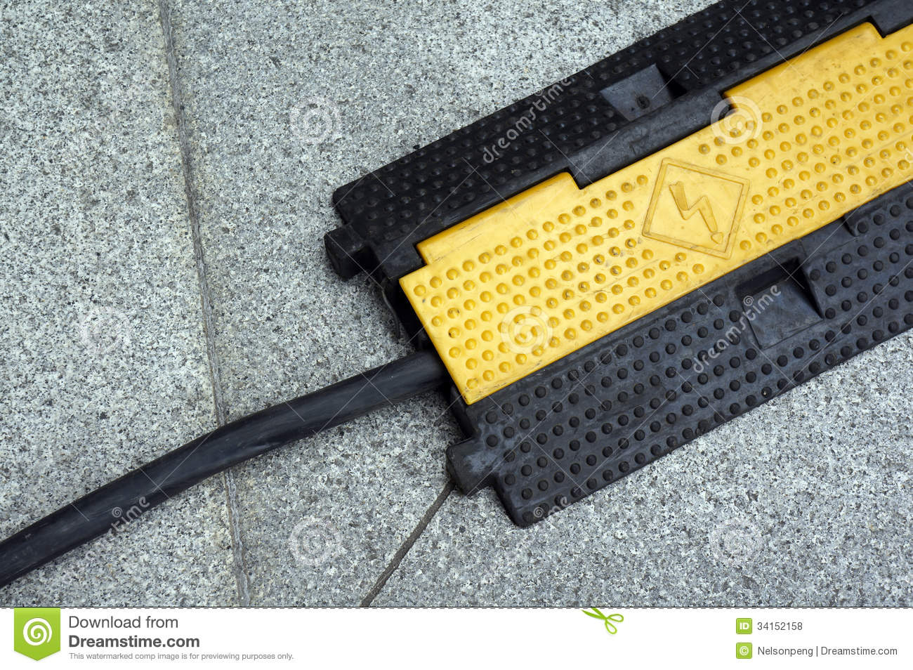 Wire Protection On The Ground Stock Photo - Image of safe, energy ...