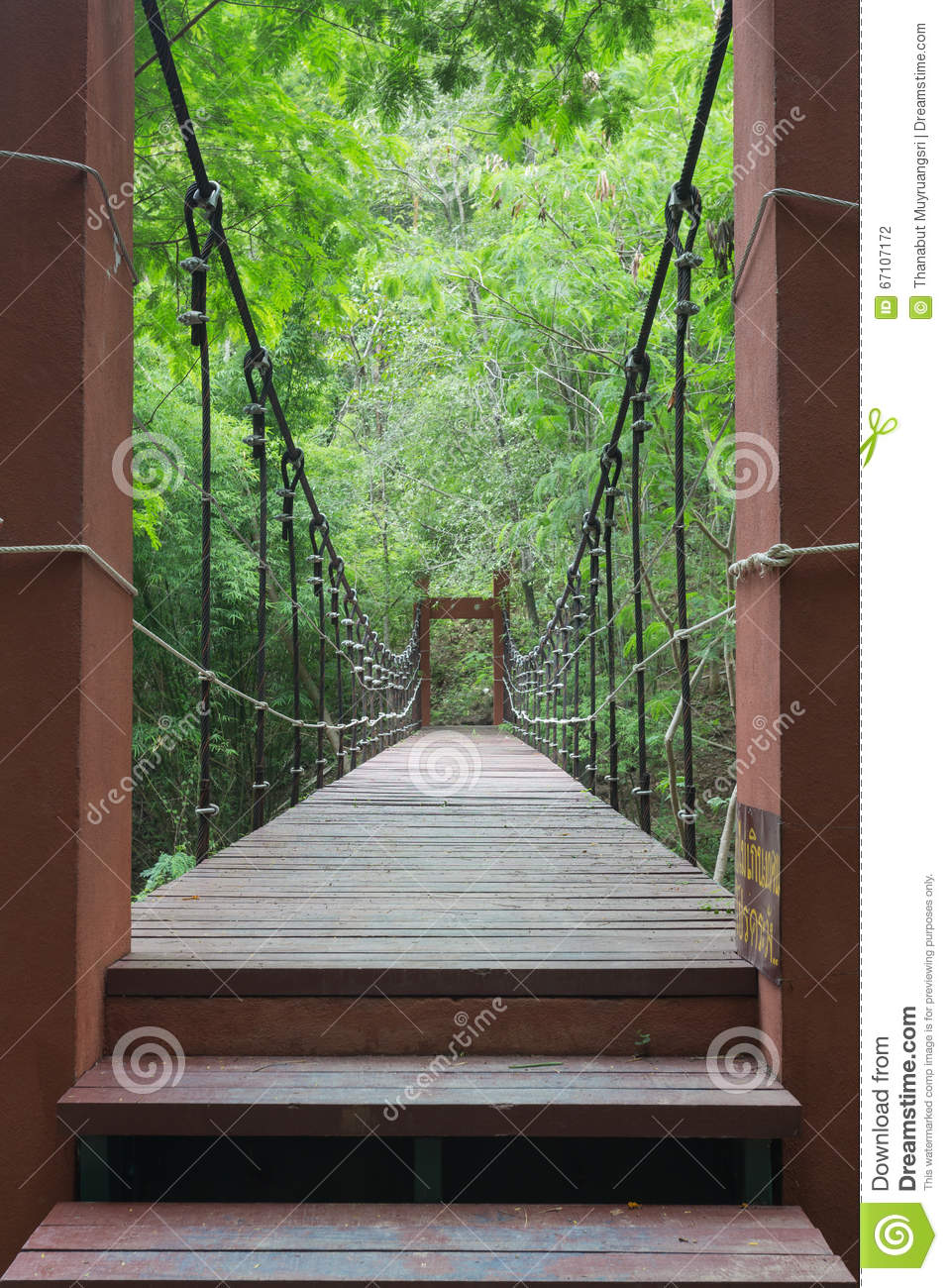 Wire Rope Bridge Stock Photo - Image: 67107172