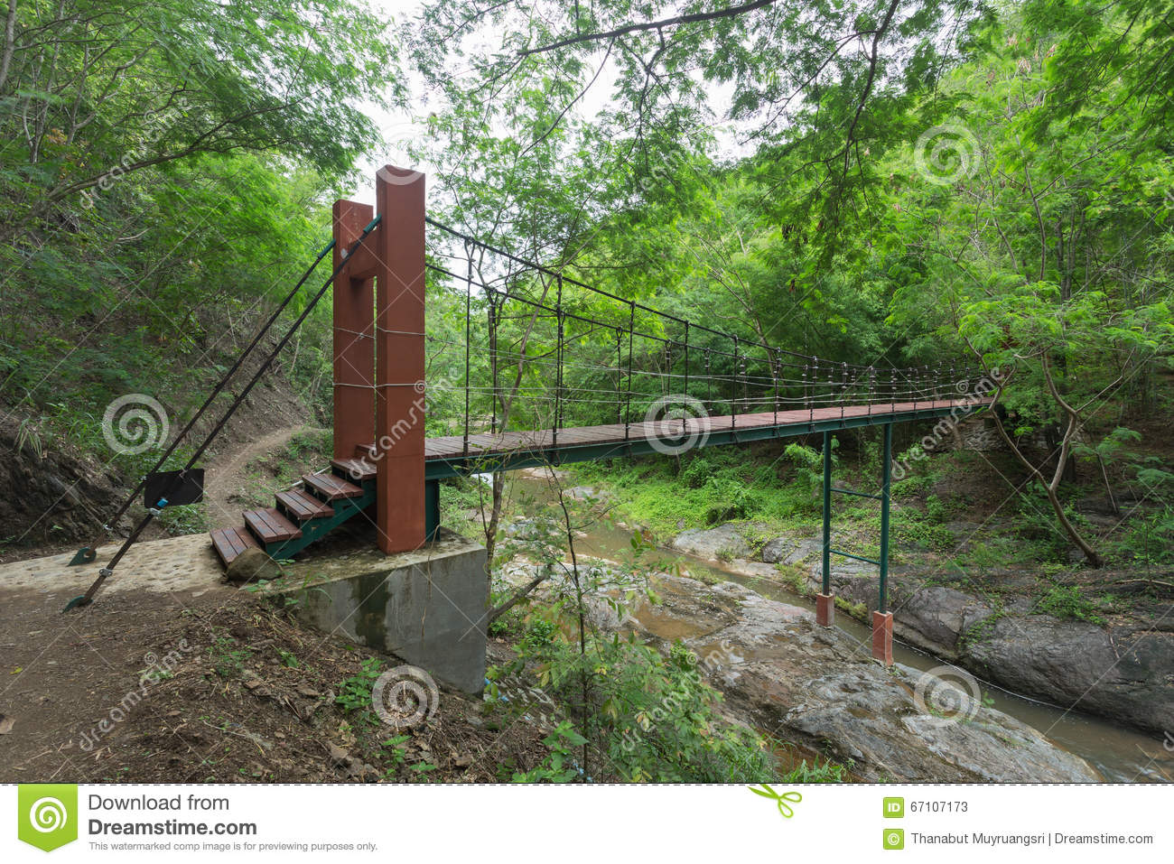 Wire Rope Bridge Stock Photo - Image: 67107173