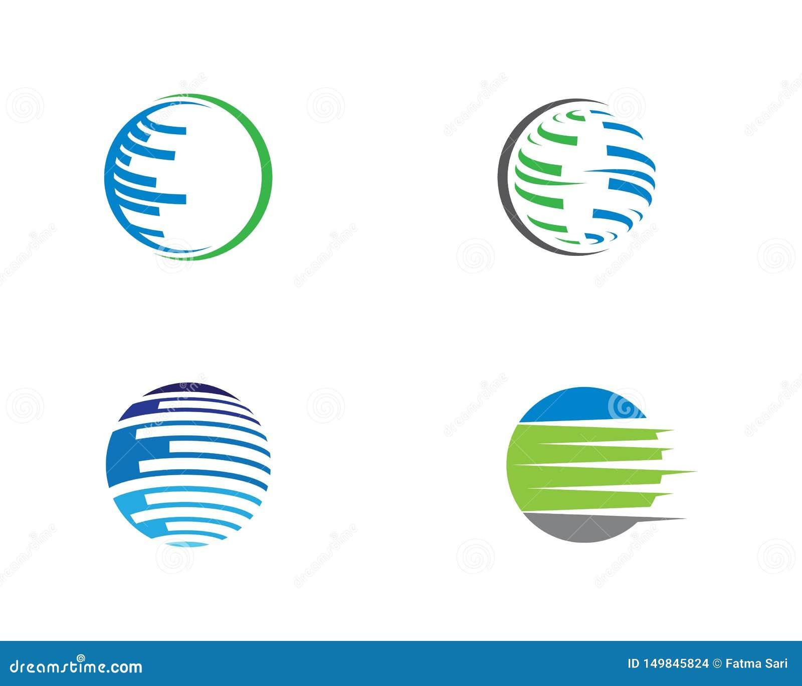 Wire world logo template