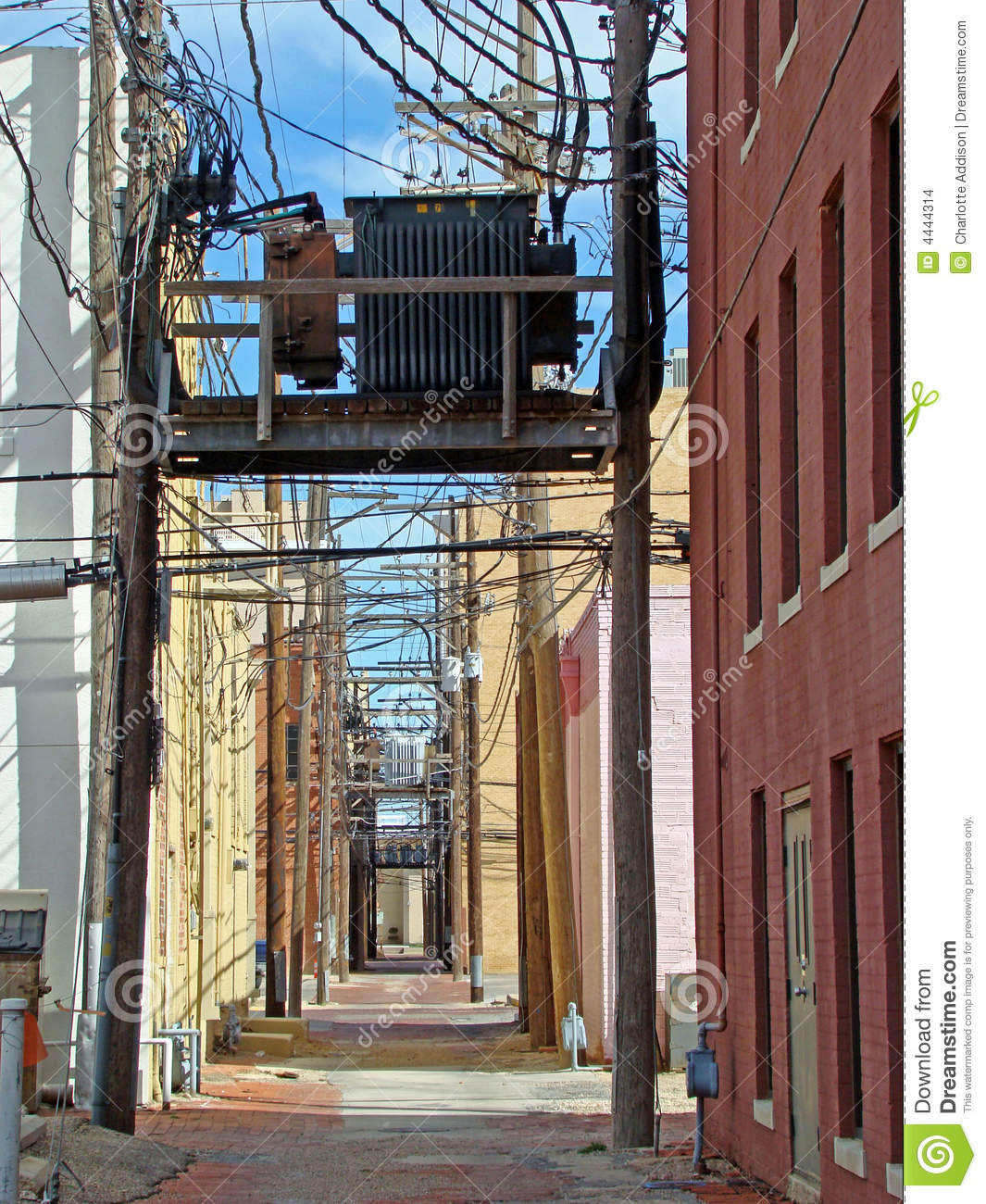 Wired Stock Photo Image Of Utilities Energy Cluttered 4444314 Metal Buildings