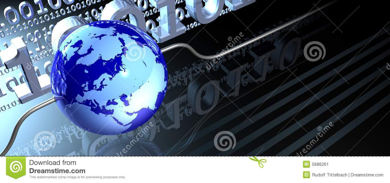 Wired Globe Banner Stock Image Image 5686261