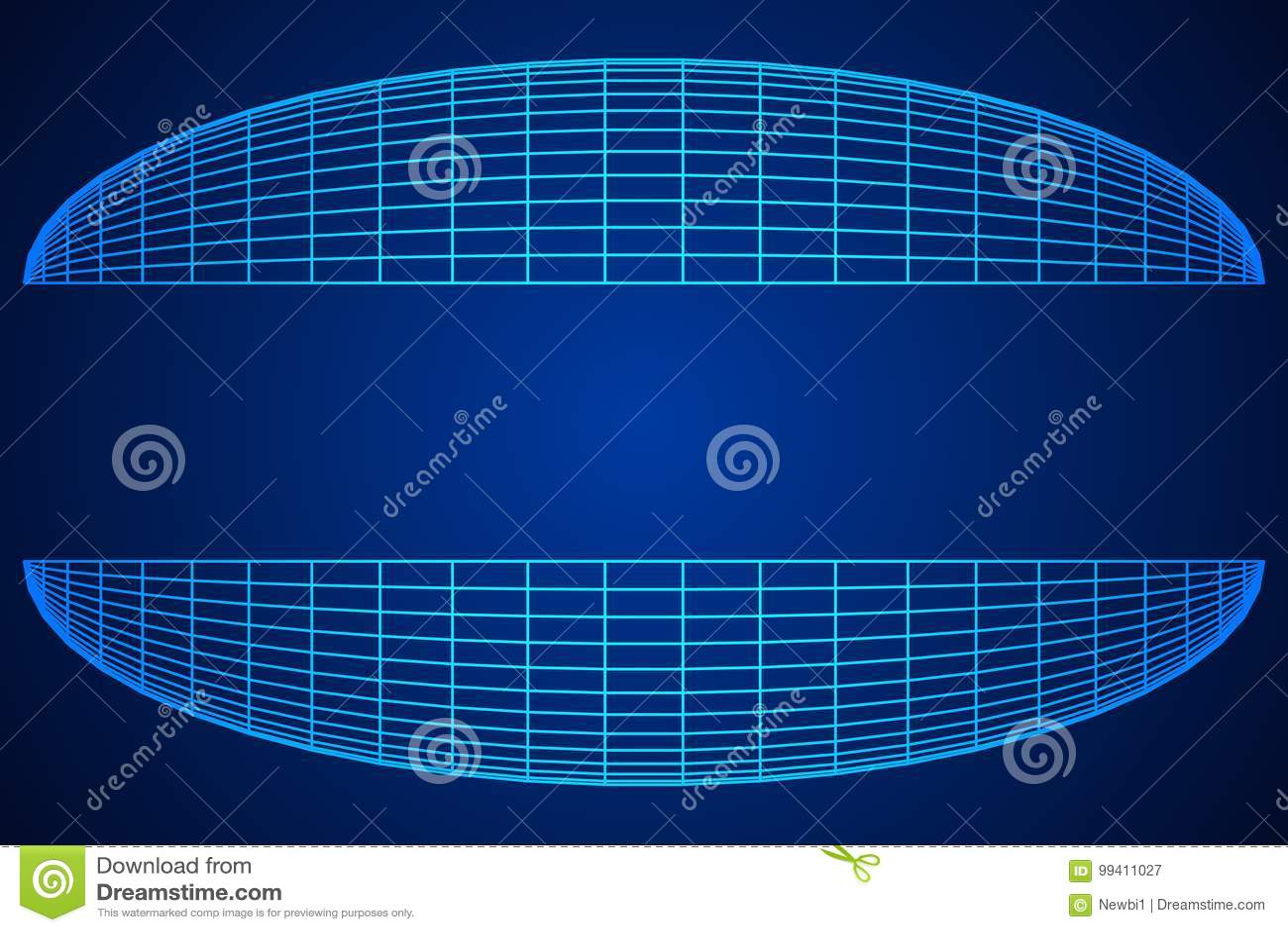 Wireframe滤网半球