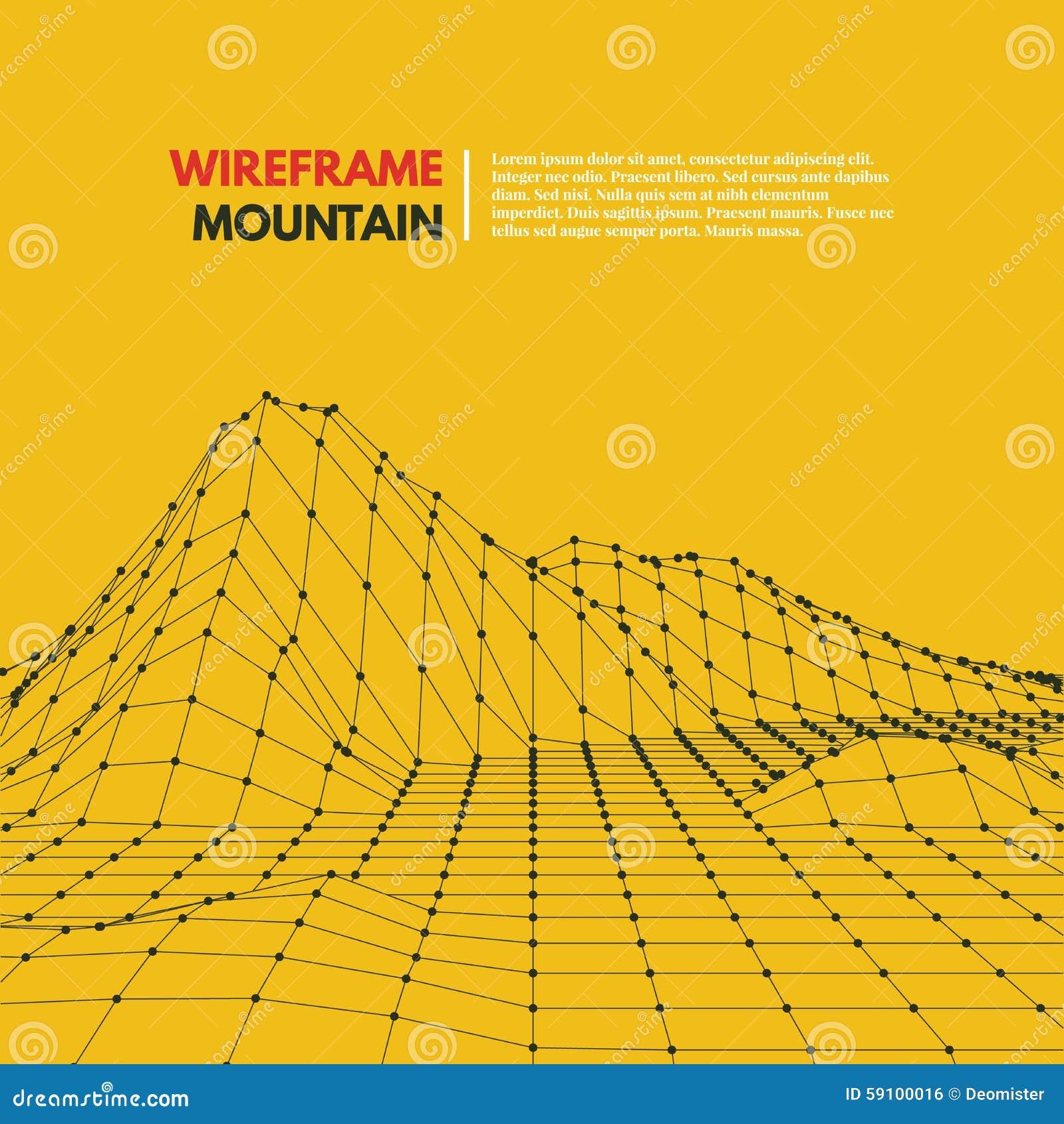 Wireframe滤网多角形表面