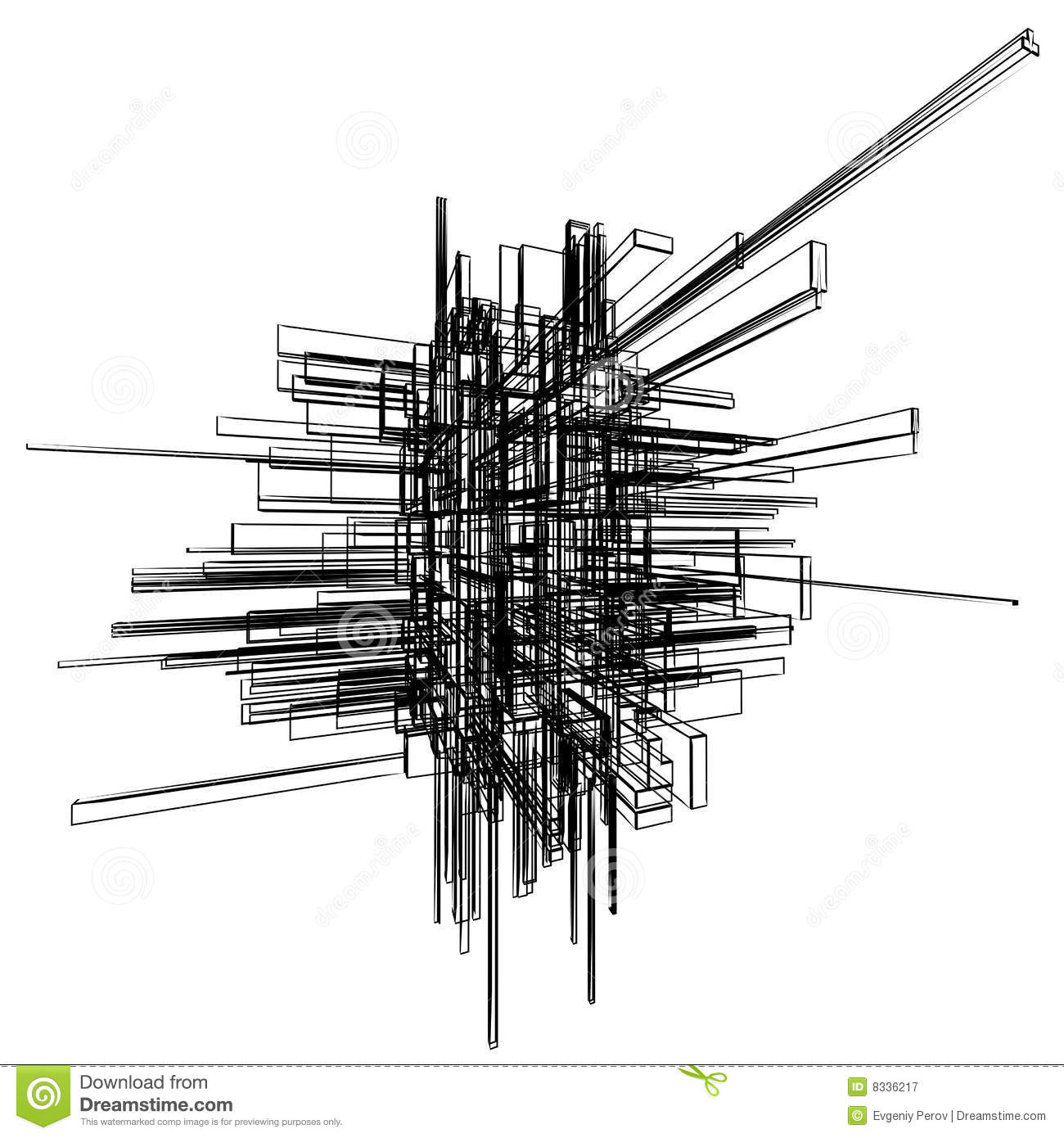 Wireframe abstracto