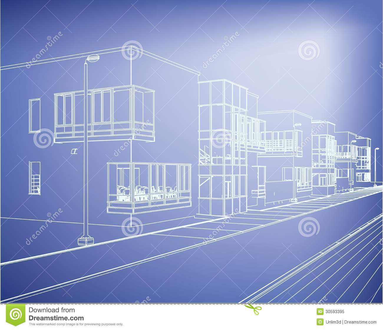 Wireframe building over blueprint stock vector illustration of wireframe building over blueprint stock vector illustration of lines house 30593395 malvernweather Choice Image