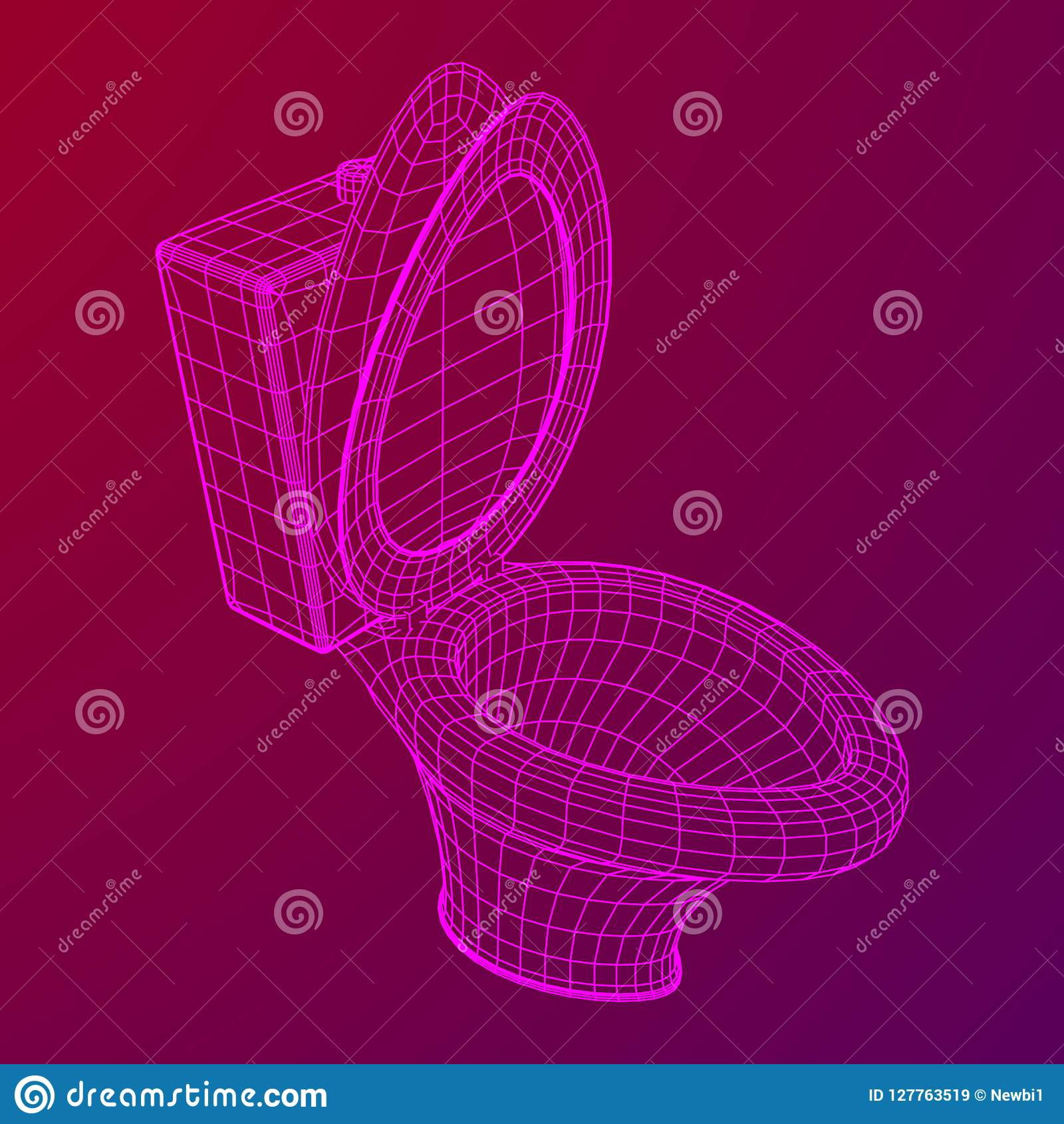 Wireframe De Cuvette Des Toilettes Illustration de Vecteur ...