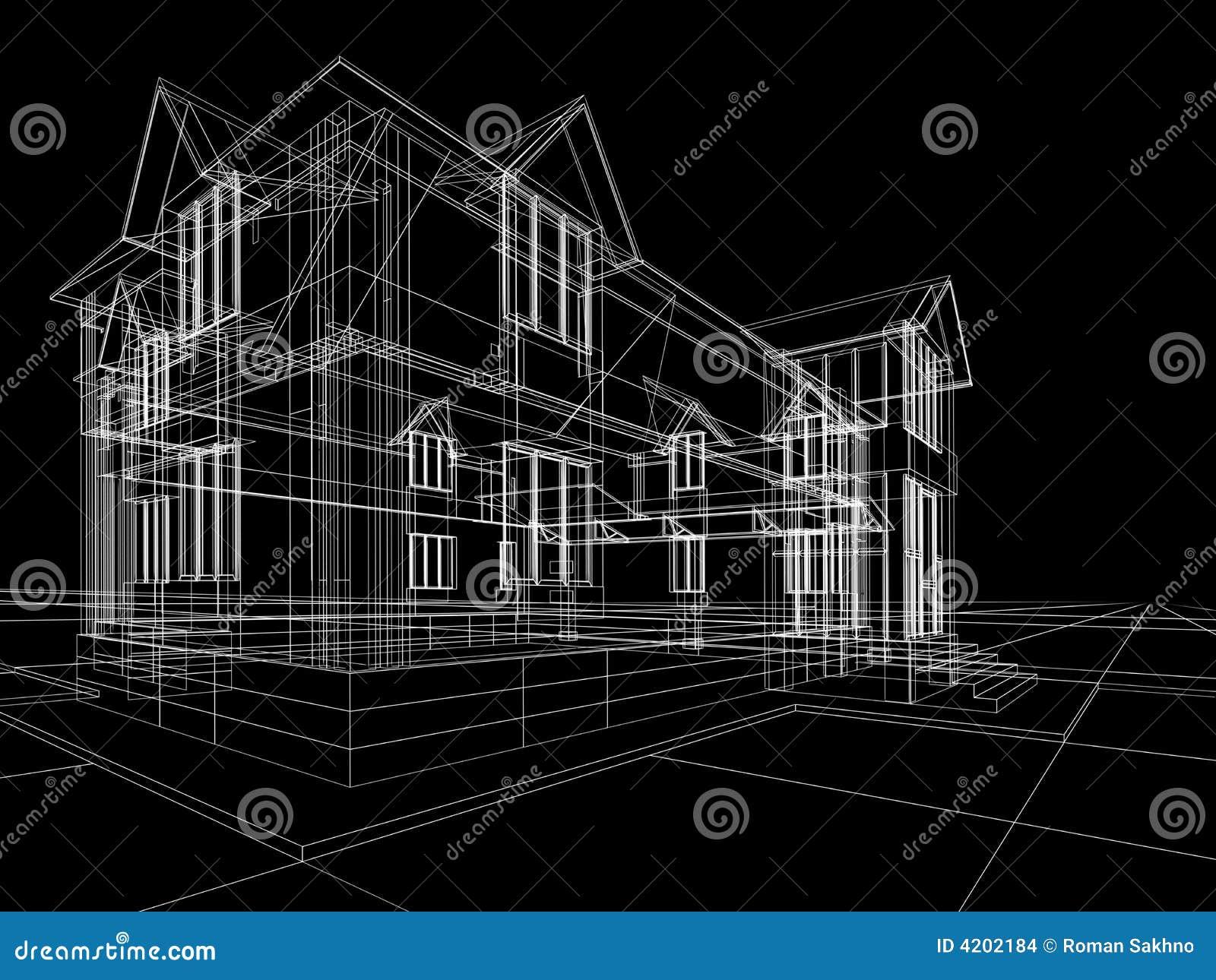 Wireframe de maison