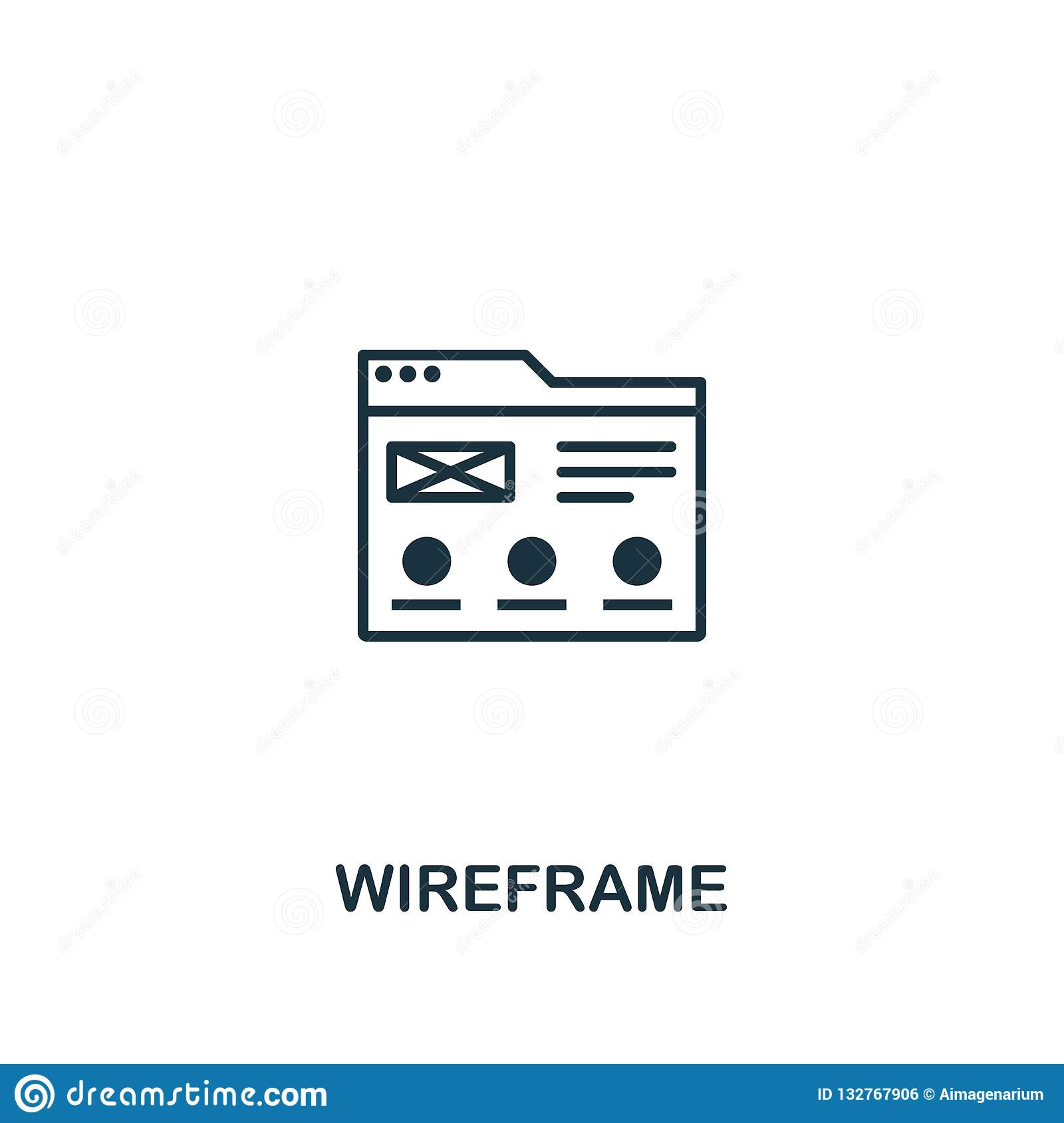 Wireframe icon. Premium style design from design ui and ux icon collection. Pixel perfect Wireframe icon for web design, apps,