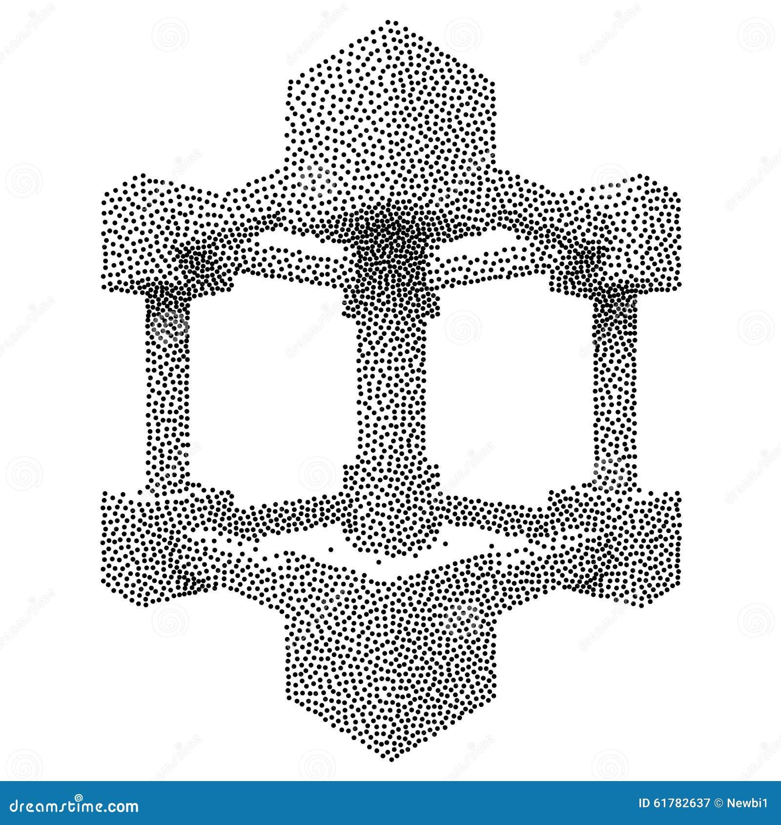 wireframe mesh dotwork vector cube stock vector image Grunge Splat Vector Ink Splat Vector