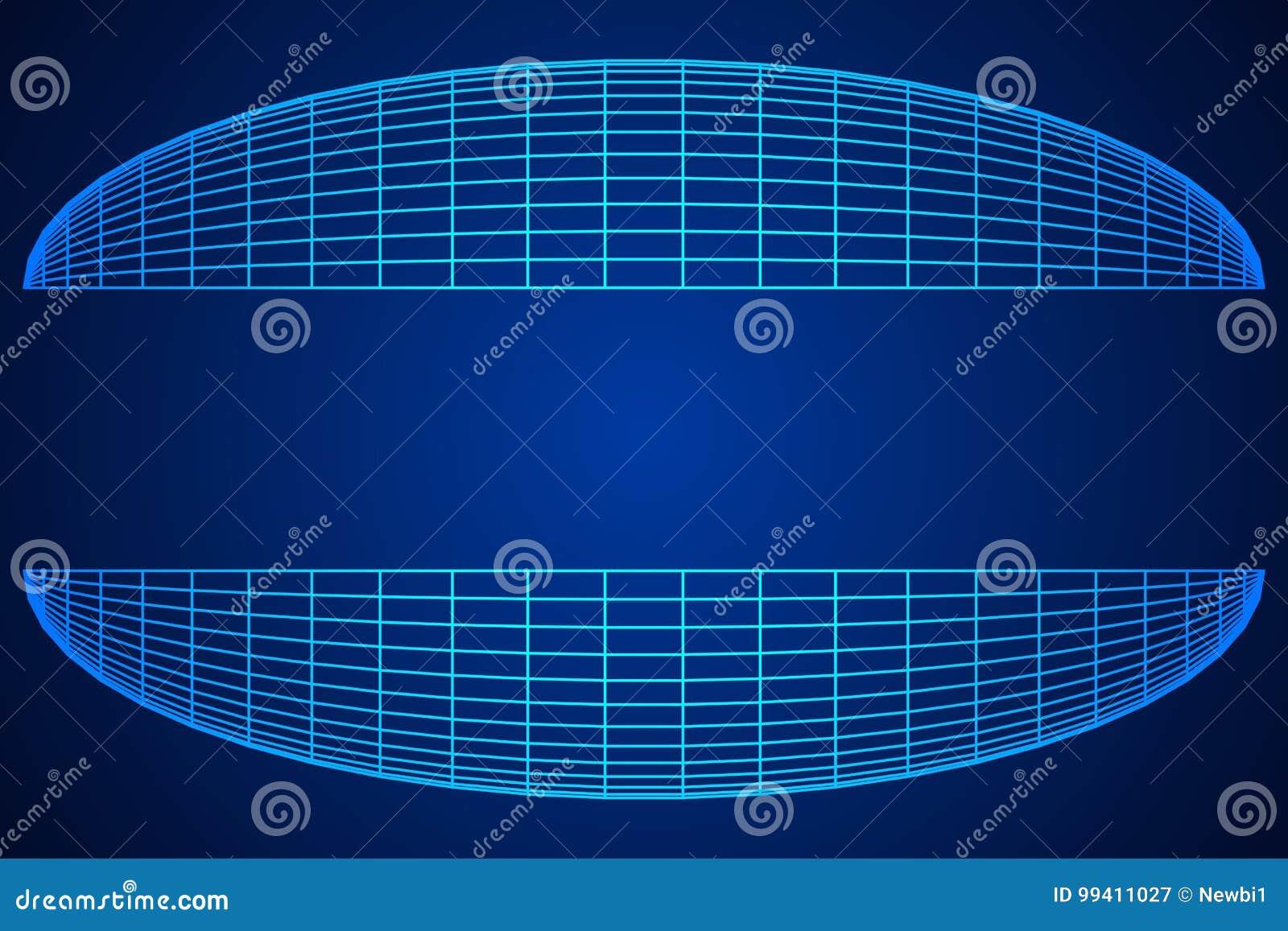 Wireframe Mesh Hemisphere